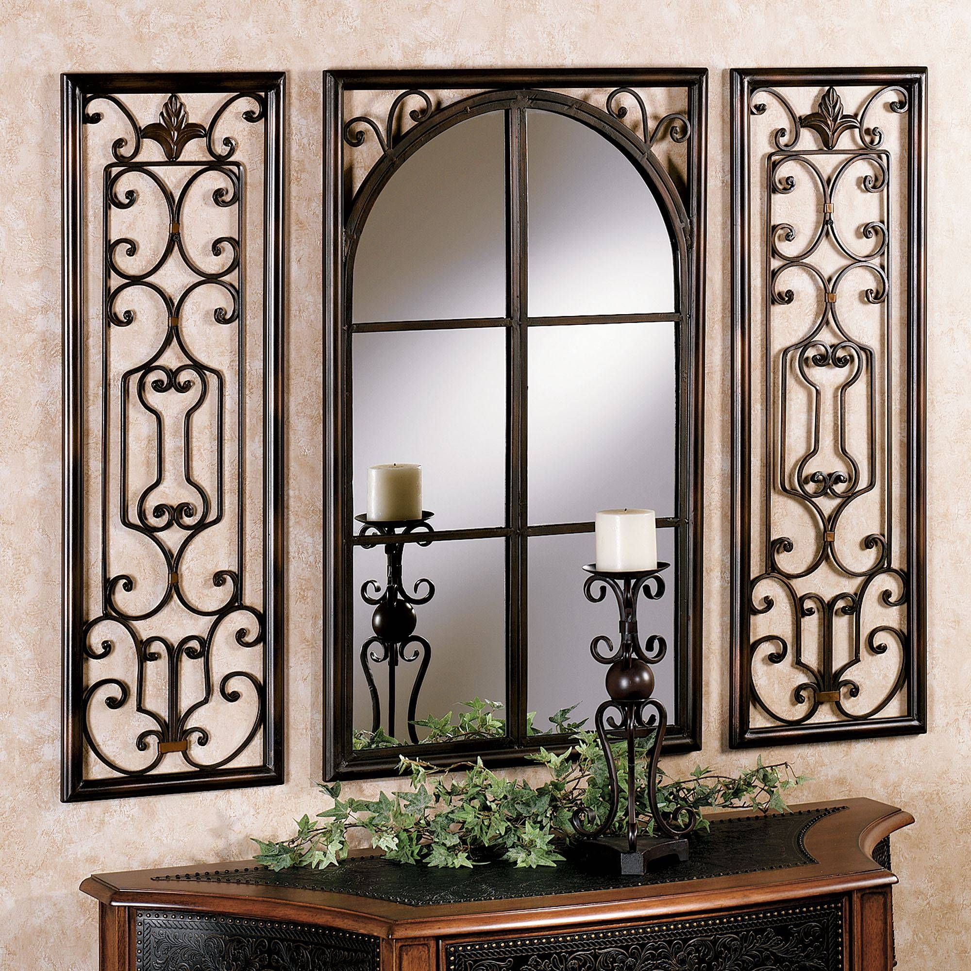 Provence Bronze Finish Wall Mirror Set in Bronze Wall Mirrors (Image 15 of 25)