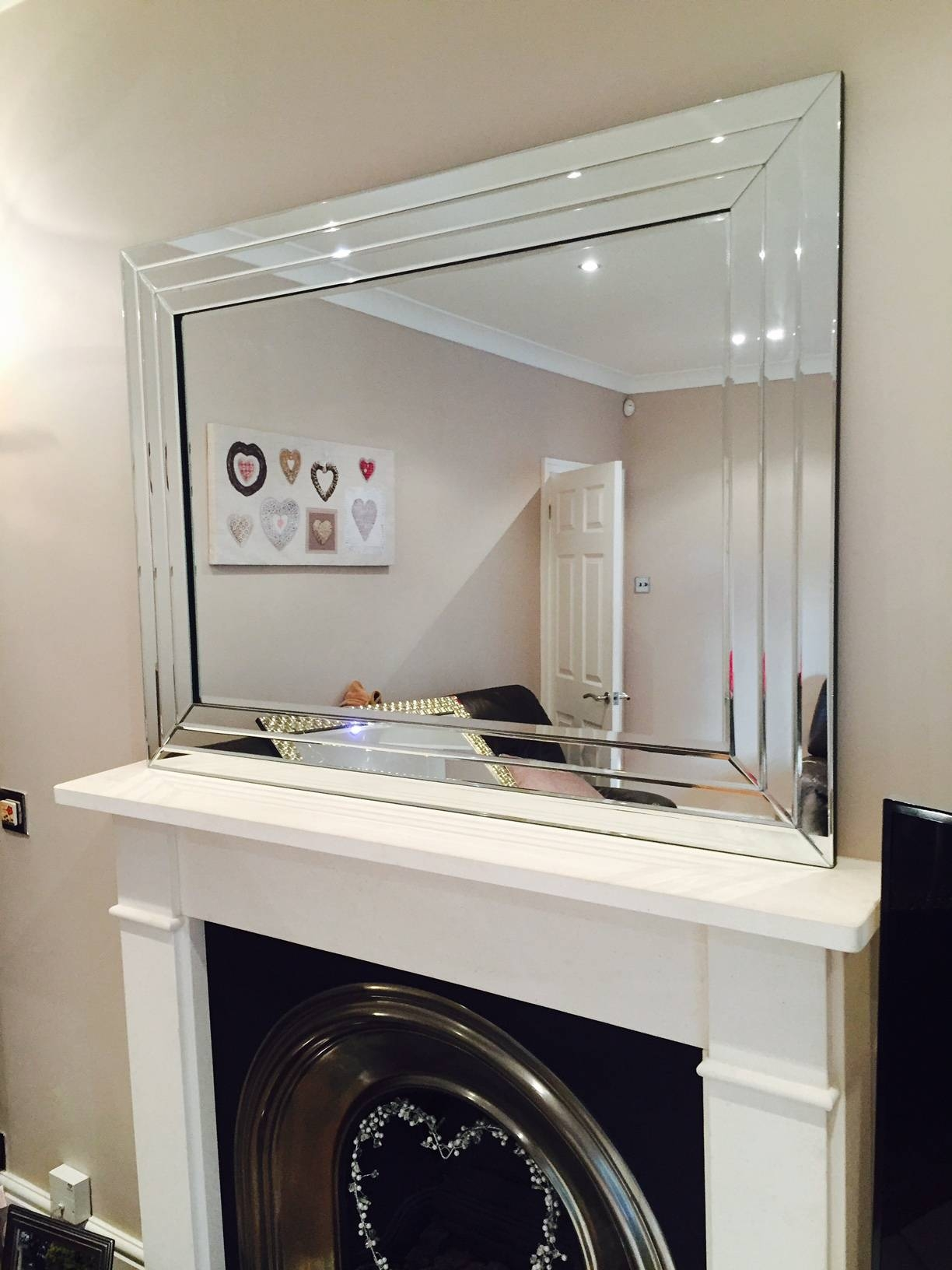 Prs Group Uk | Large Venetian Bevelled Wall Mirror 117Cm X 87Cm regarding Large Bevelled Mirrors (Image 22 of 25)