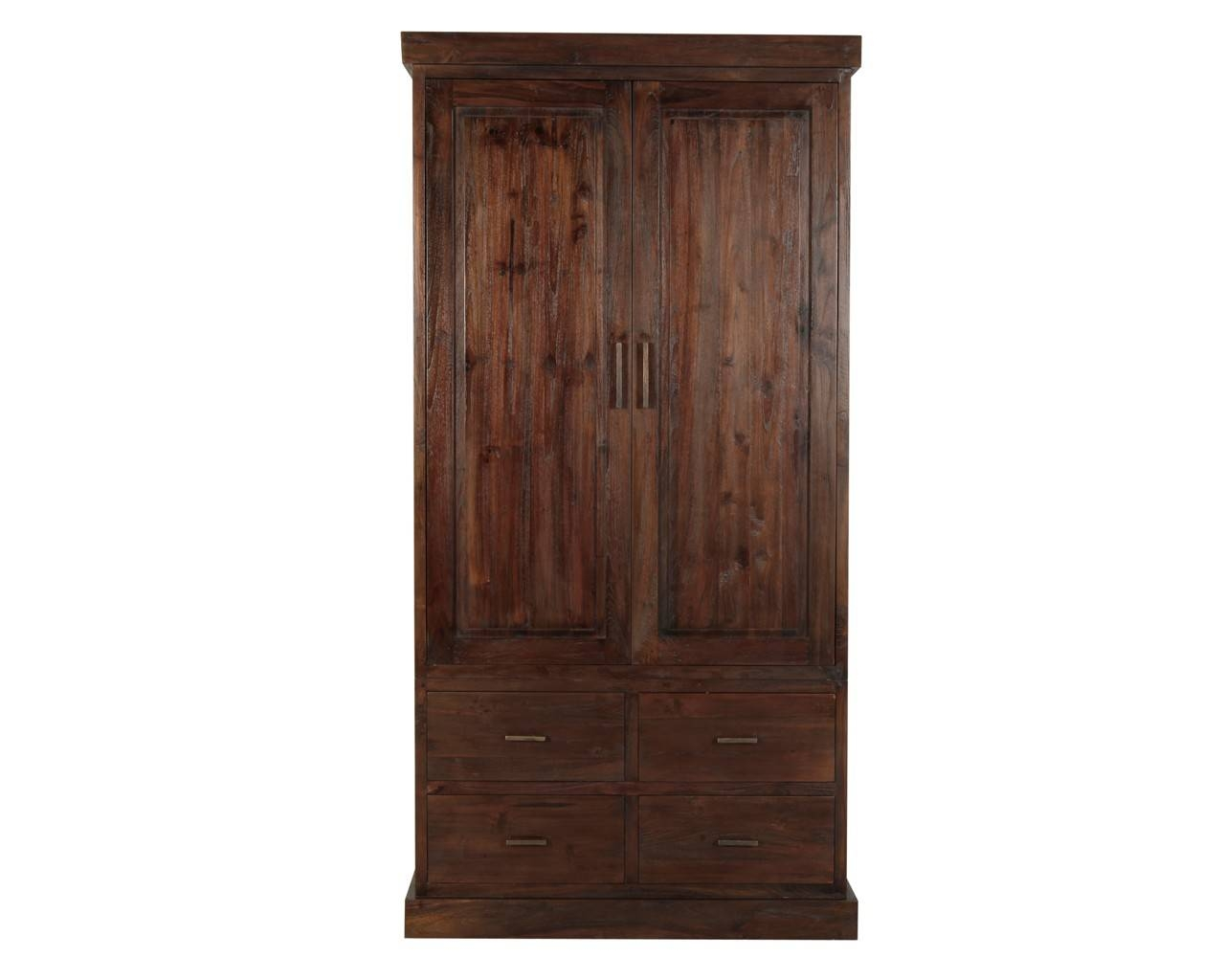 Puji: Reclaimed Teak Wardrobes | Dark Wood Gents Wardrobe with regard to Solid Dark Wood Wardrobes (Image 16 of 30)