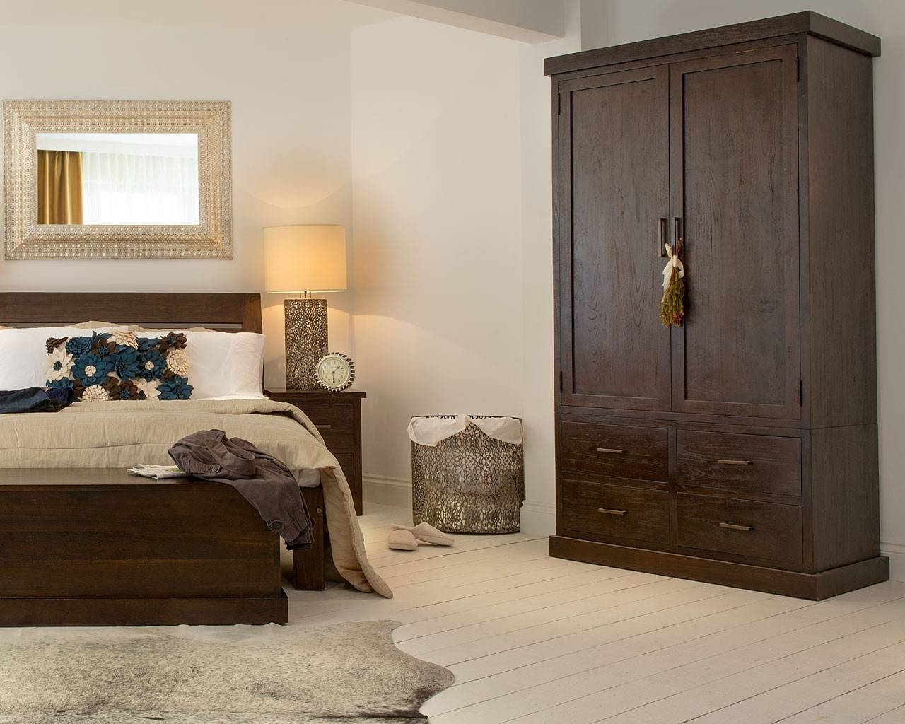 Puji: Reclaimed Teak Wardrobes | Dark Wood Gents Wardrobe within Dark Wood Wardrobe Cheap (Image 18 of 30)