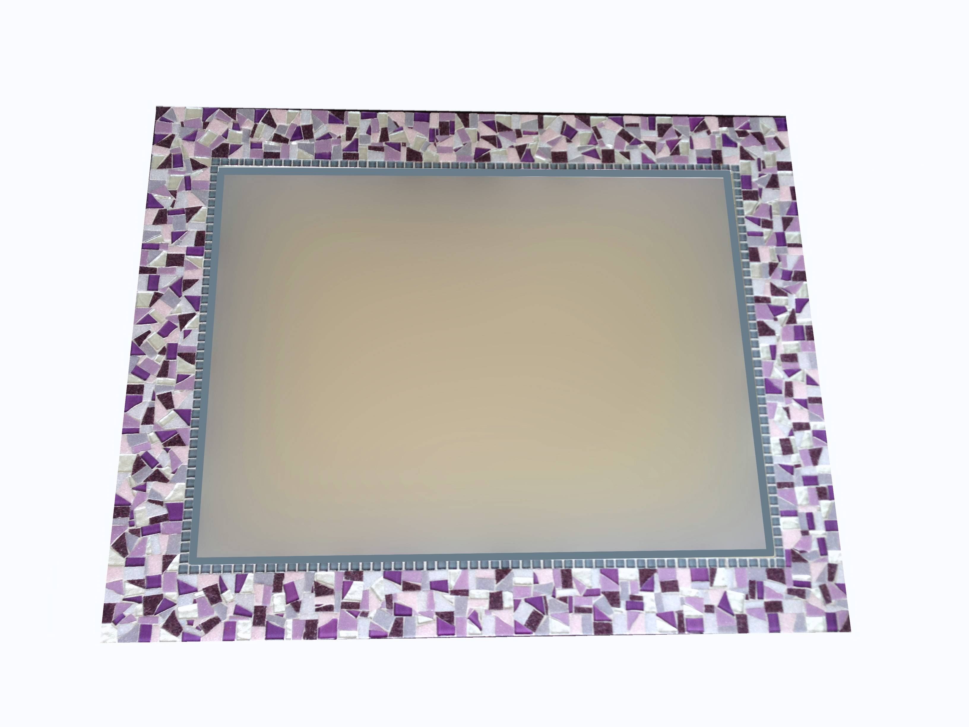 Purple And Silver Mosaic Wall Mirror - : within Mosaic Wall Mirrors (Image 20 of 25)