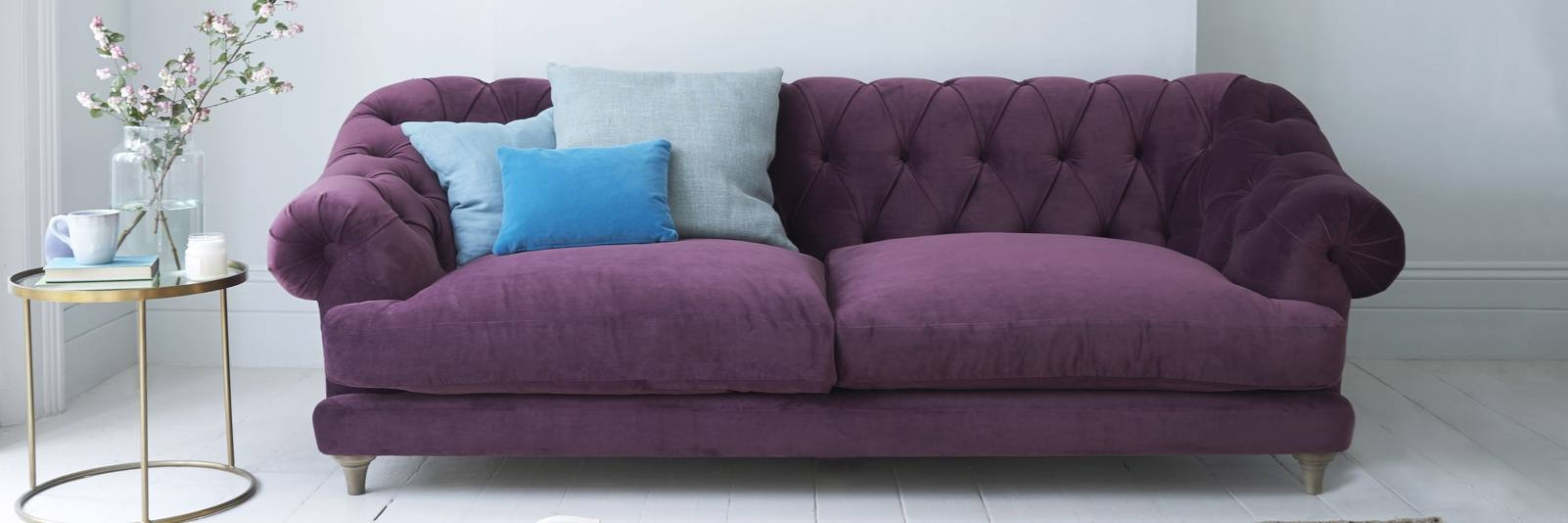 Purple Velvet Sofas | Made In Blighty | Loaf within Velvet Purple Sofas (Image 20 of 30)