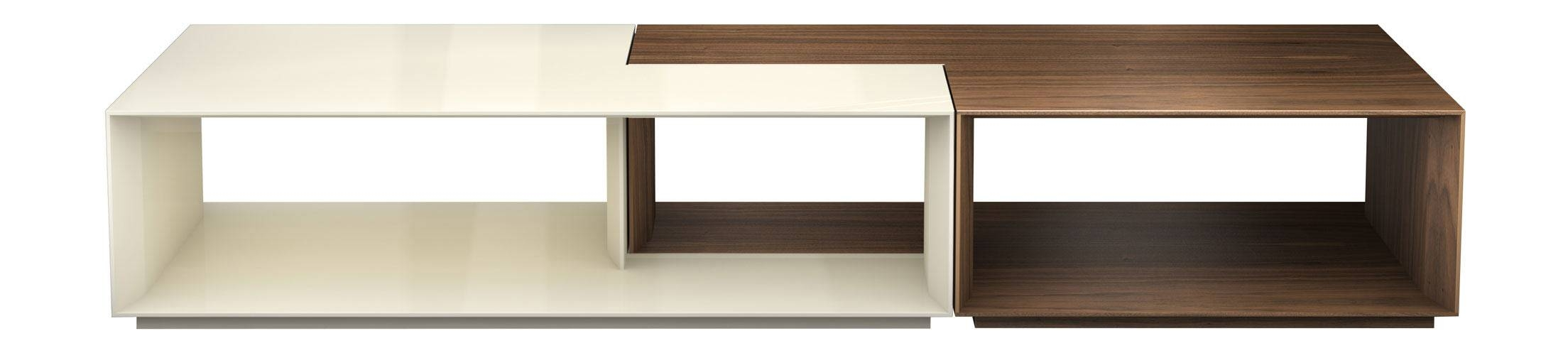 Putney Jigsaw Coffee Table Walnut And Beige Lacquermodloft With Beige Coffee Tables (View 23 of 30)