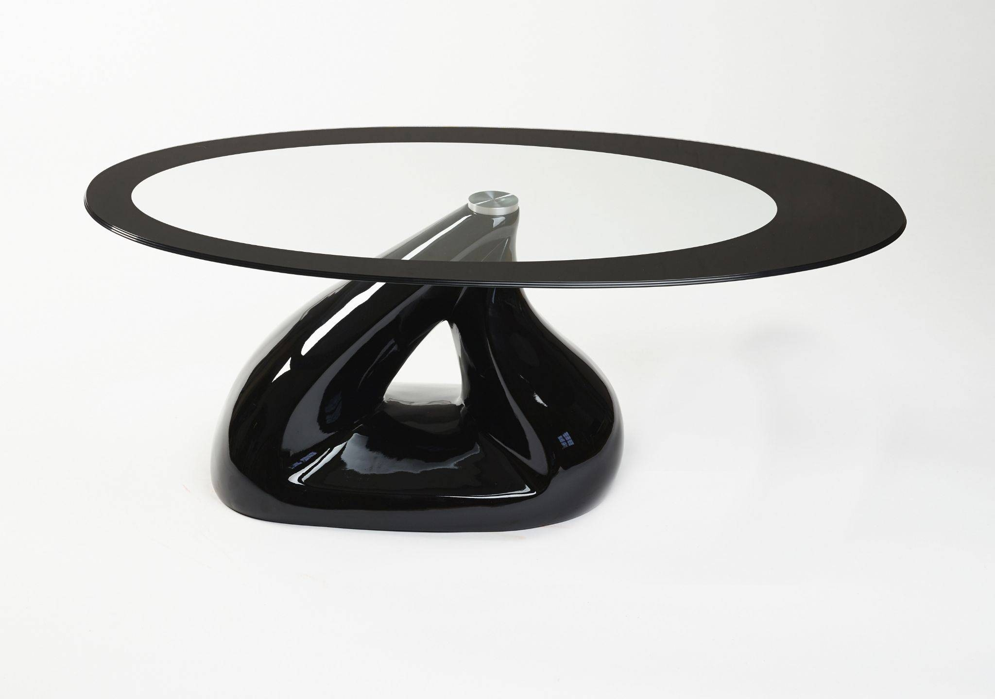 Pyramid Design Oval Glass Coffee Table Contemporary with Oval Black Glass Coffee Tables (Image 26 of 30)