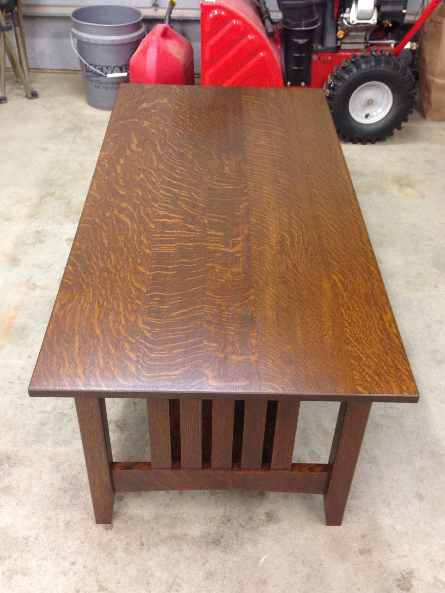Quarter Sawn Oak Coffee Table Regarding White And Oak Coffee Tables (View 21 of 30)