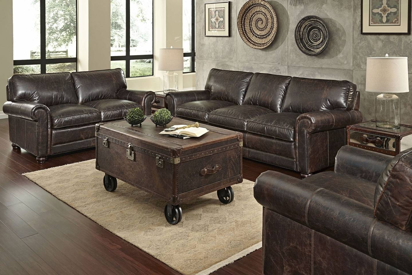"Quick Ship"" 3-Piece Leather Sofa, Loveseat & Chair Set for Sofa Loveseat and Chair Set (Image 23 of 30)"