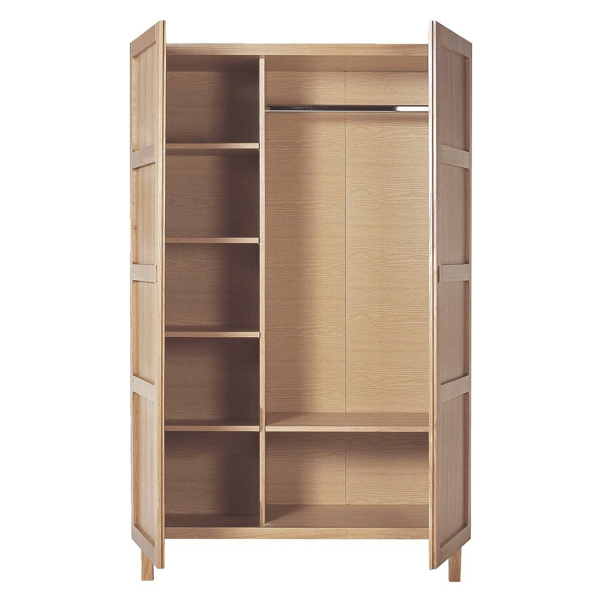 Radius Oak 2 Door Wardrobe | Buy Now At Habitat Uk inside 3 Door Wardrobe With Drawers And Shelves (Image 21 of 30)