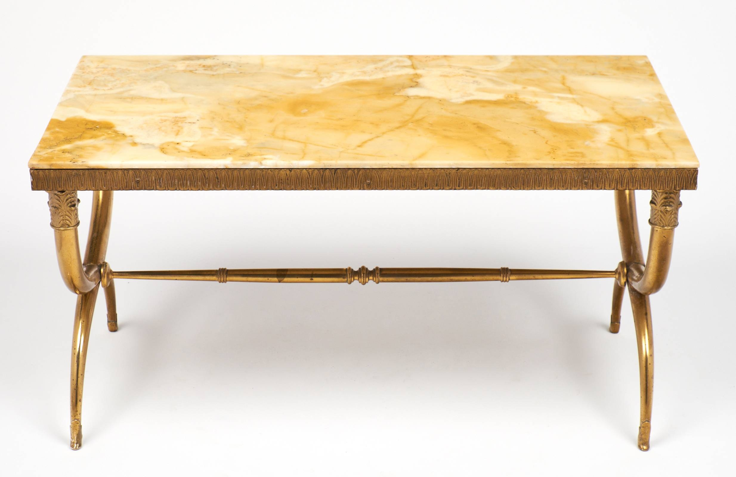 Ramsay Style Gilt Bronze Coffee Table - Jean Marc Fray throughout Bronze Coffee Tables (Image 23 of 30)