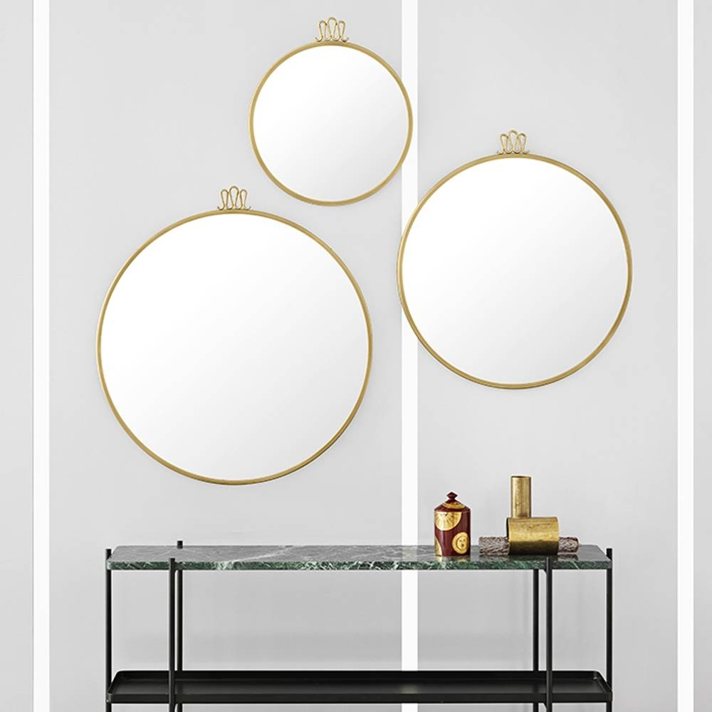 Randaccio Circular Wall Mirror | Gio Ponti | Gubi | Suite Ny throughout Circular Wall Mirrors (Image 19 of 25)