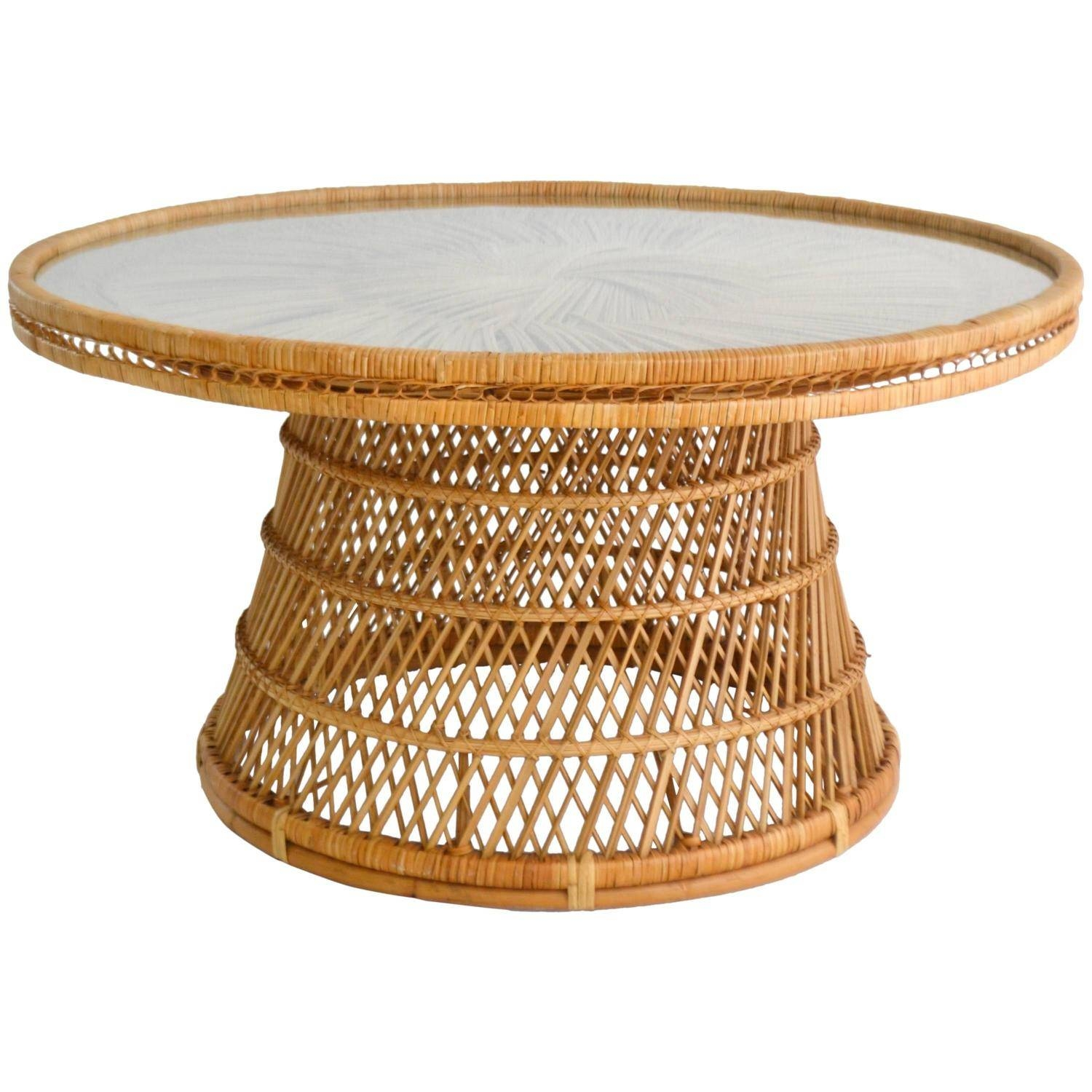 Rattan Coffee And Cocktail Tables - 67 For Sale At 1Stdibs within Round Woven Coffee Tables (Image 18 of 30)