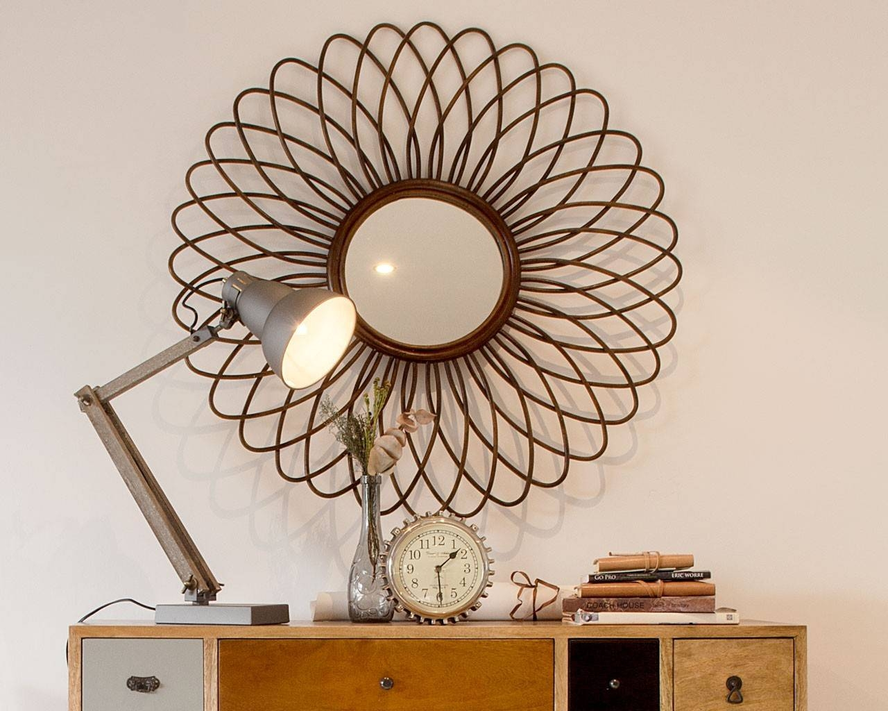 Rattan Ornate Round Mirror - Handcrafted Feature Mirrors for Ornate Round Mirrors (Image 22 of 25)