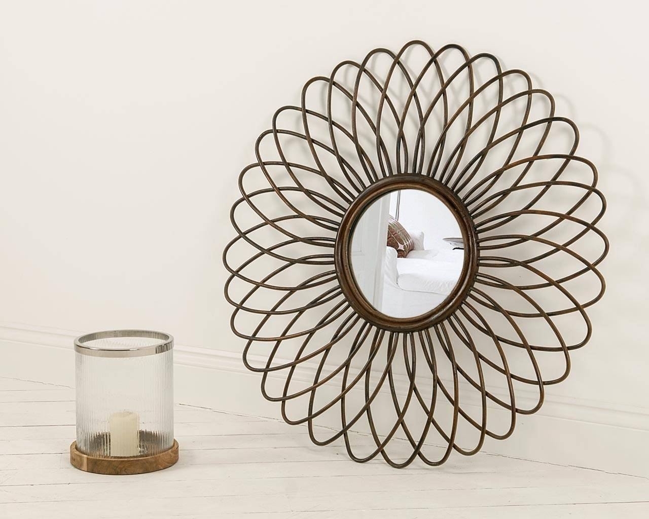 Rattan Ornate Round Mirror - Handcrafted Feature Mirrors inside Ornate Round Mirrors (Image 23 of 25)