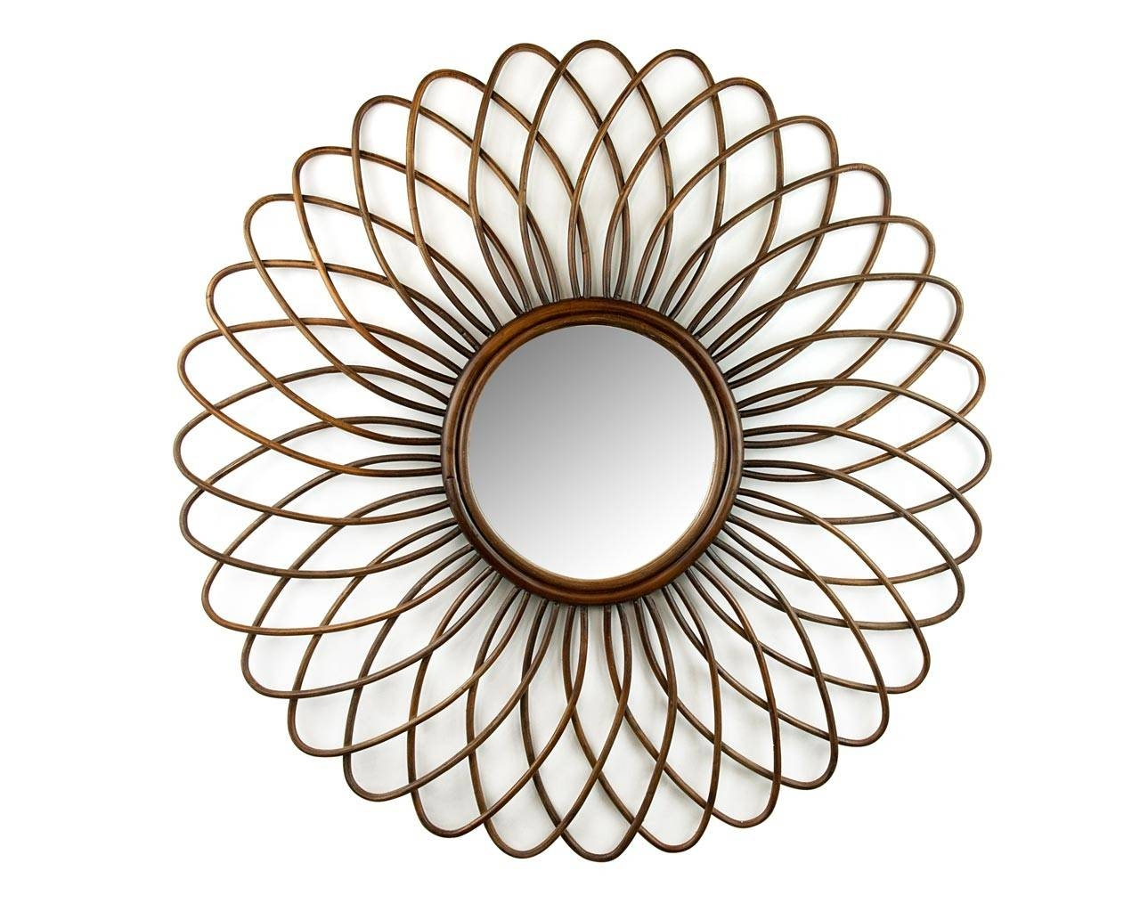 Rattan Ornate Round Mirror - Handcrafted Feature Mirrors with regard to Ornate Round Mirrors (Image 24 of 25)