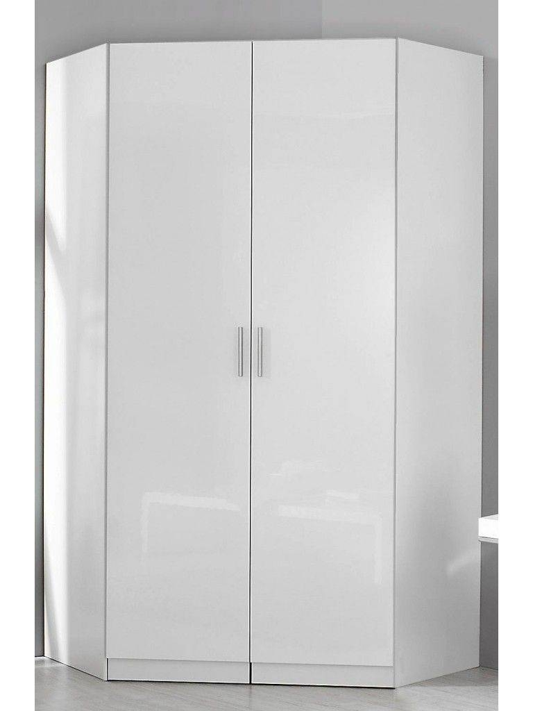 Rauch Celle 2 Door Corner Wardrobe Available With Gloss Fronts regarding White Corner Wardrobes (Image 13 of 15)