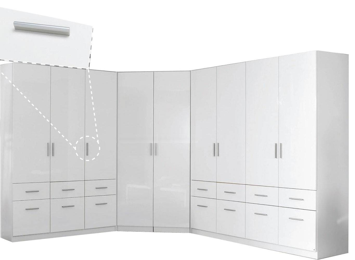 Rauch Furniture | Celle 2 Door Mirror Corner Wardrobe regarding 1 Door Corner Wardrobes (Image 12 of 15)