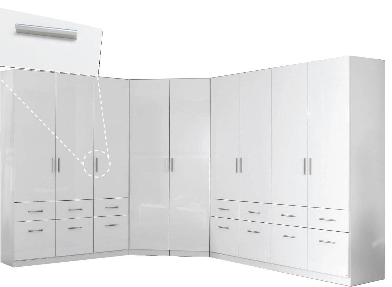 Rauch Furniture | Celle 2 Door Mirror Corner Wardrobe Regarding 1 Door Corner Wardrobes (View 12 of 15)