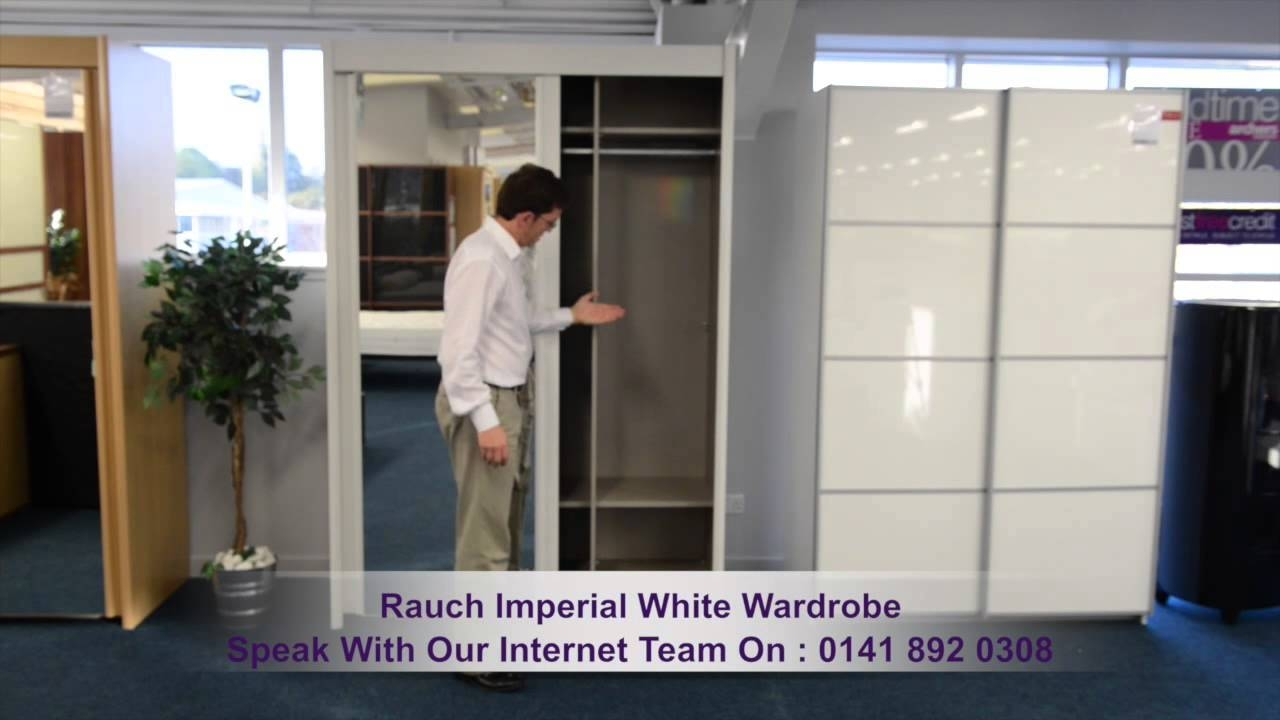 Rauch Imperial White 2 Sliding Door, 2 Mirror Wardrobe - Youtube inside Wardrobes With 2 Sliding Doors (Image 12 of 15)