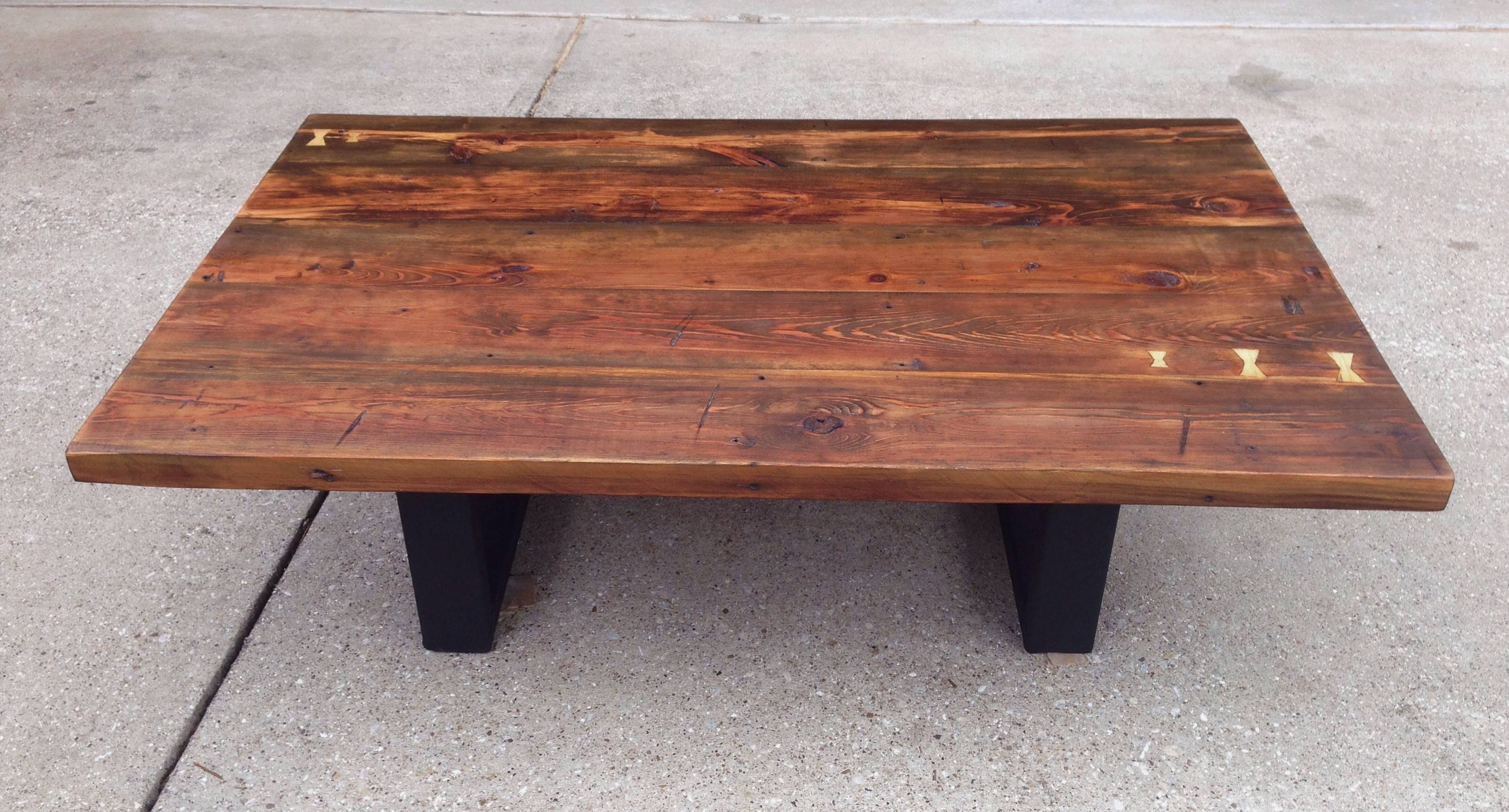 Reclaimed Southern Yellow Pine Coffee Table | The Grain. intended for Pine Coffee Tables (Image 23 of 30)