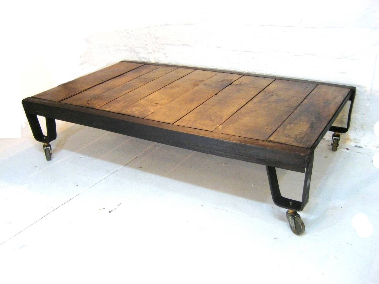 Reclaimed Wood And Metal Coffee Table – Rustic Wood And Metal pertaining to Joss and Main Coffee Tables (Image 26 of 30)