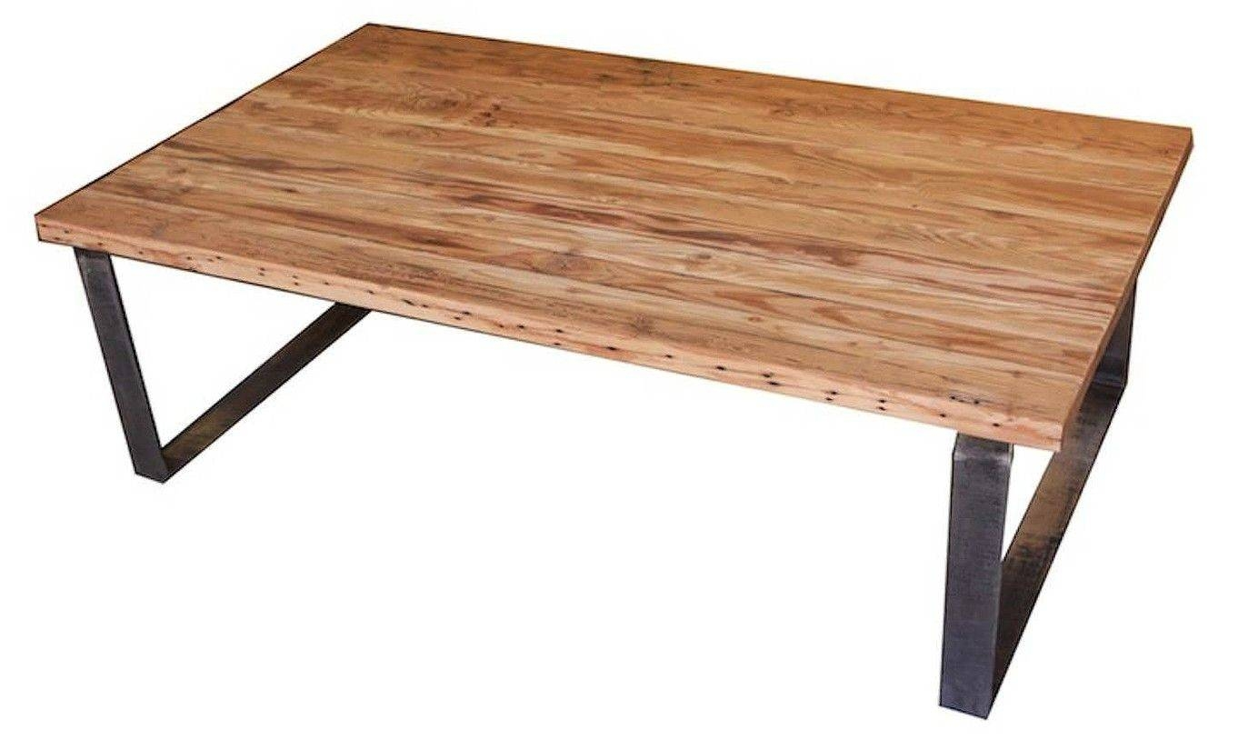 Reclaimed Wood Coffee Table With Metal Legs | Coffee Tables Decoration Within Cheap Wood Coffee Tables (View 17 of 30)