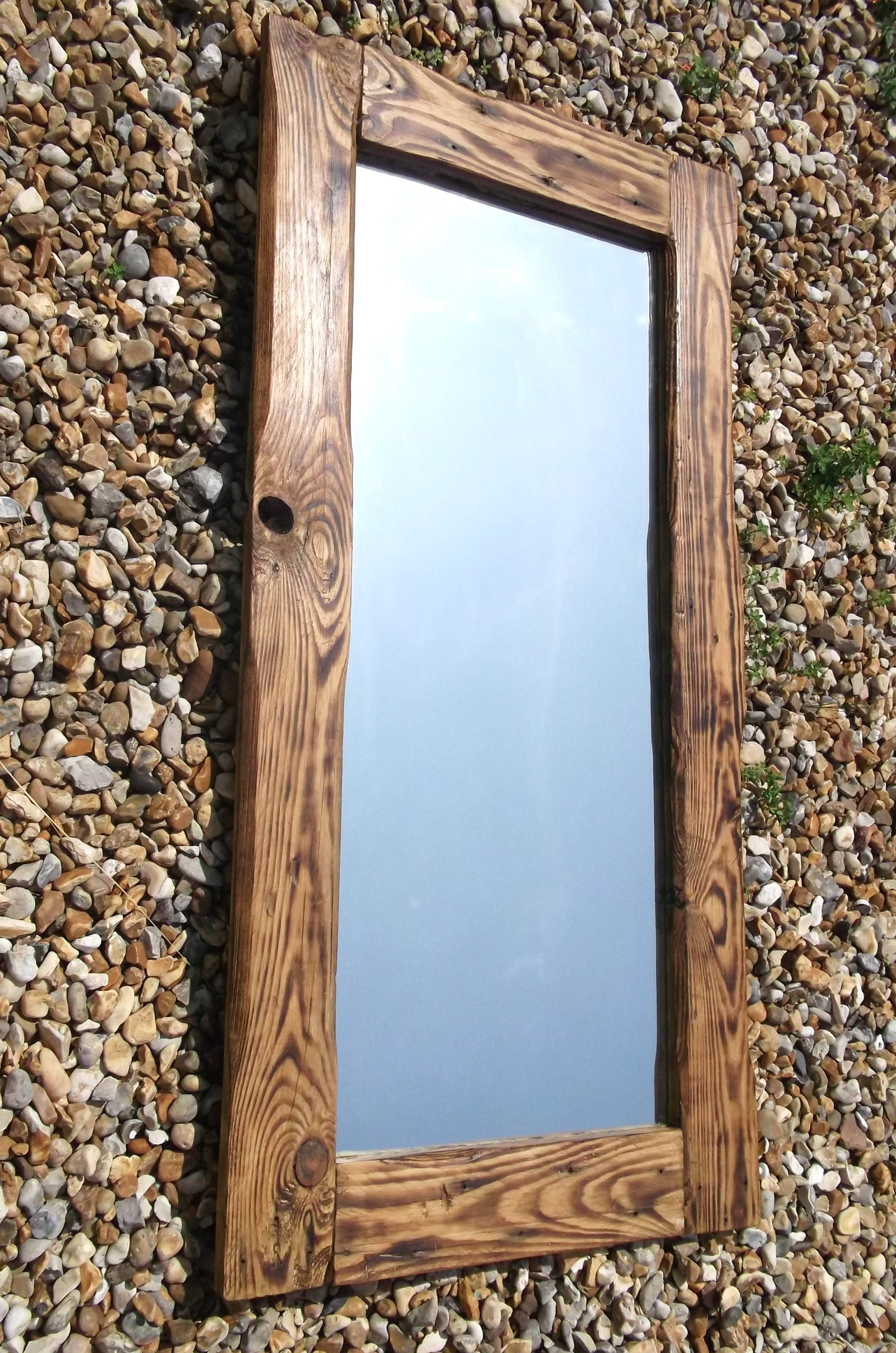 Reclaimed Wood Mirrors | Dave's Beach Hut intended for Large Oak Framed Mirrors (Image 24 of 25)