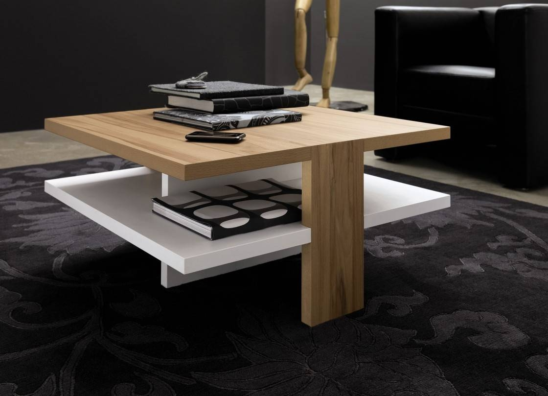 Reclaimed Wooden Coffee Table Contemporary Wooden Coffee Tables Intended For Square Shaped Coffee Tables (View 21 of 30)