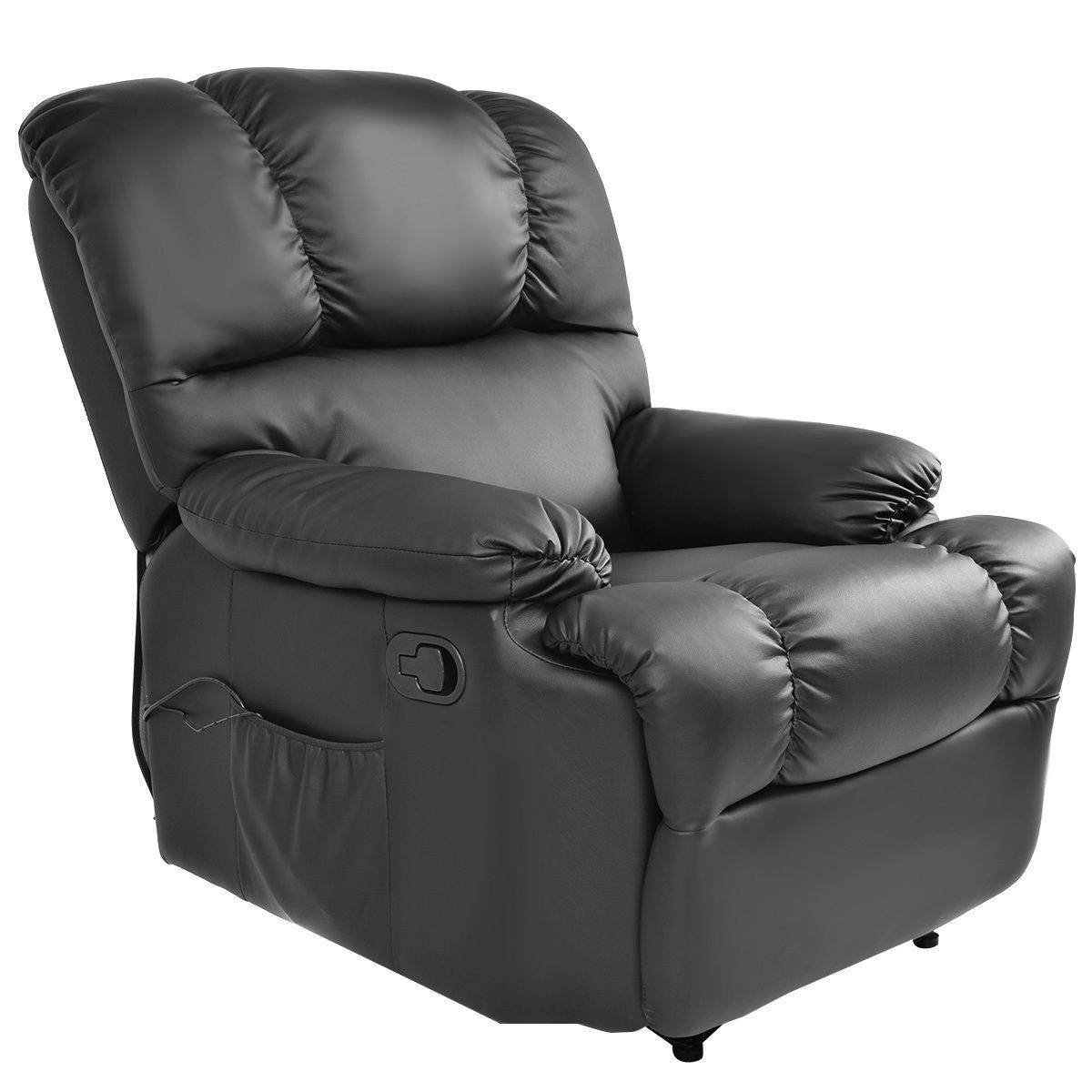 Recliner Massage Sofa Chair Deluxe Ergonomic Lounge Couch Heated W throughout Sofa Chair Recliner (Image 23 of 30)