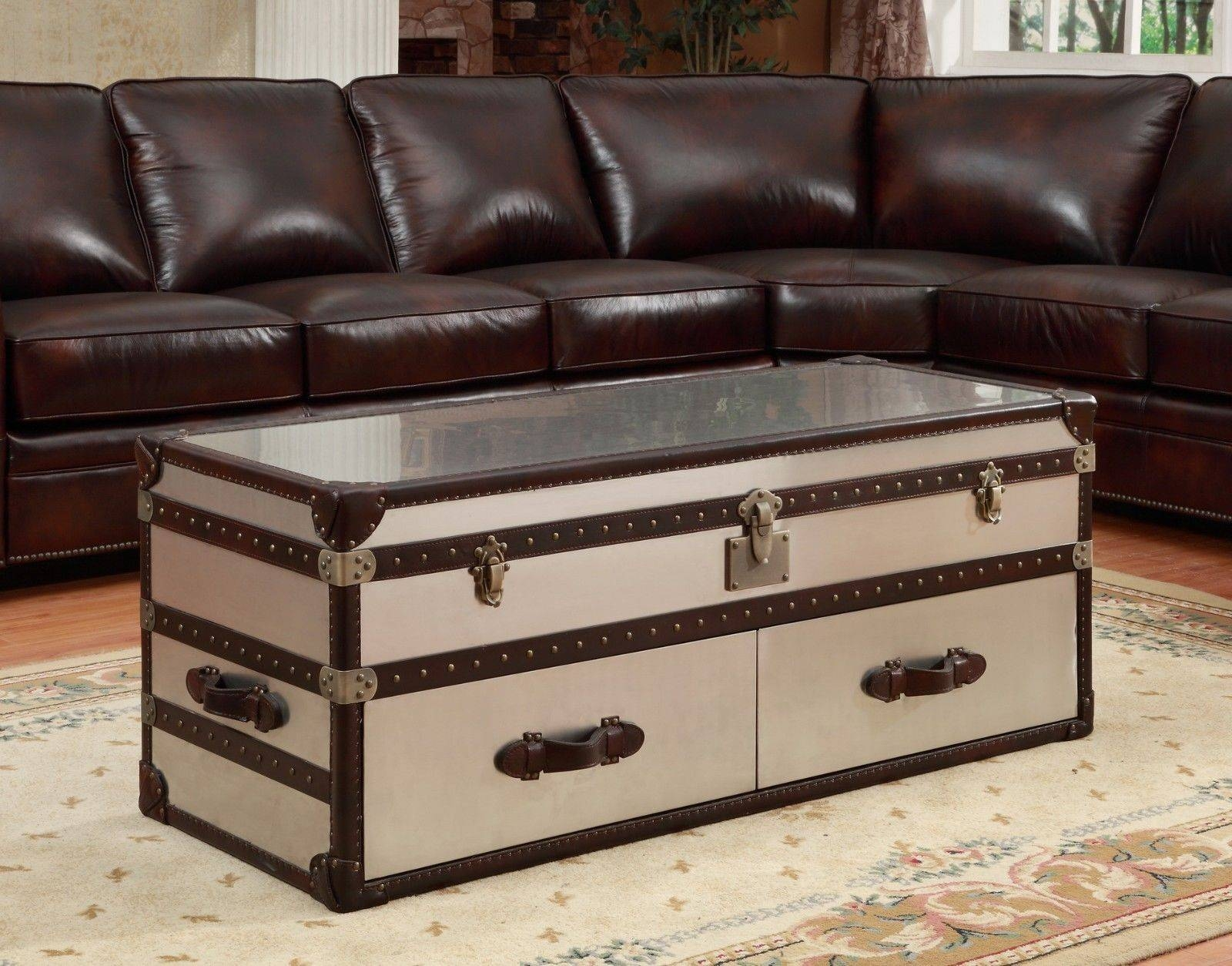 Recommendations On The Selection Of Antique Trunk Coffee Table For Trunk  Coffee Tables (Image 20