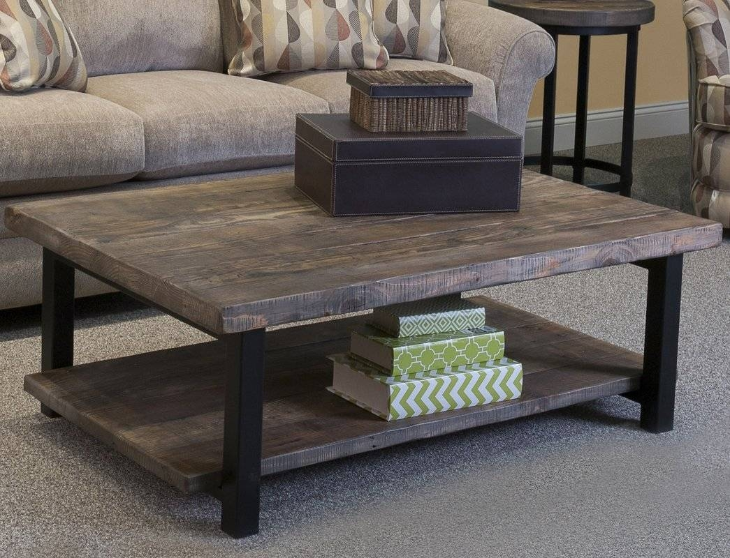 Rectangle Coffee Tables - Coffee Tables | Wayfair inside Mercury Glass Coffee Tables (Image 28 of 30)