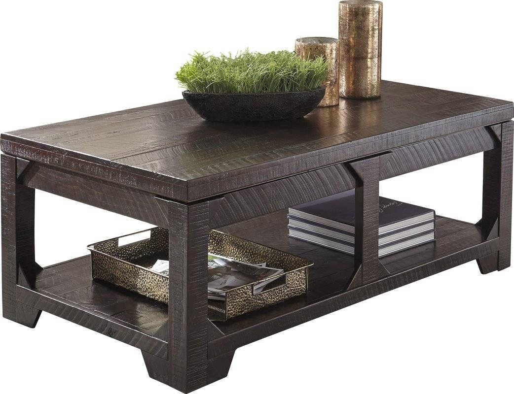 Rectangle Coffee Tables - Coffee Tables | Wayfair pertaining to Coffee Tables With Shelf Underneath (Image 26 of 30)