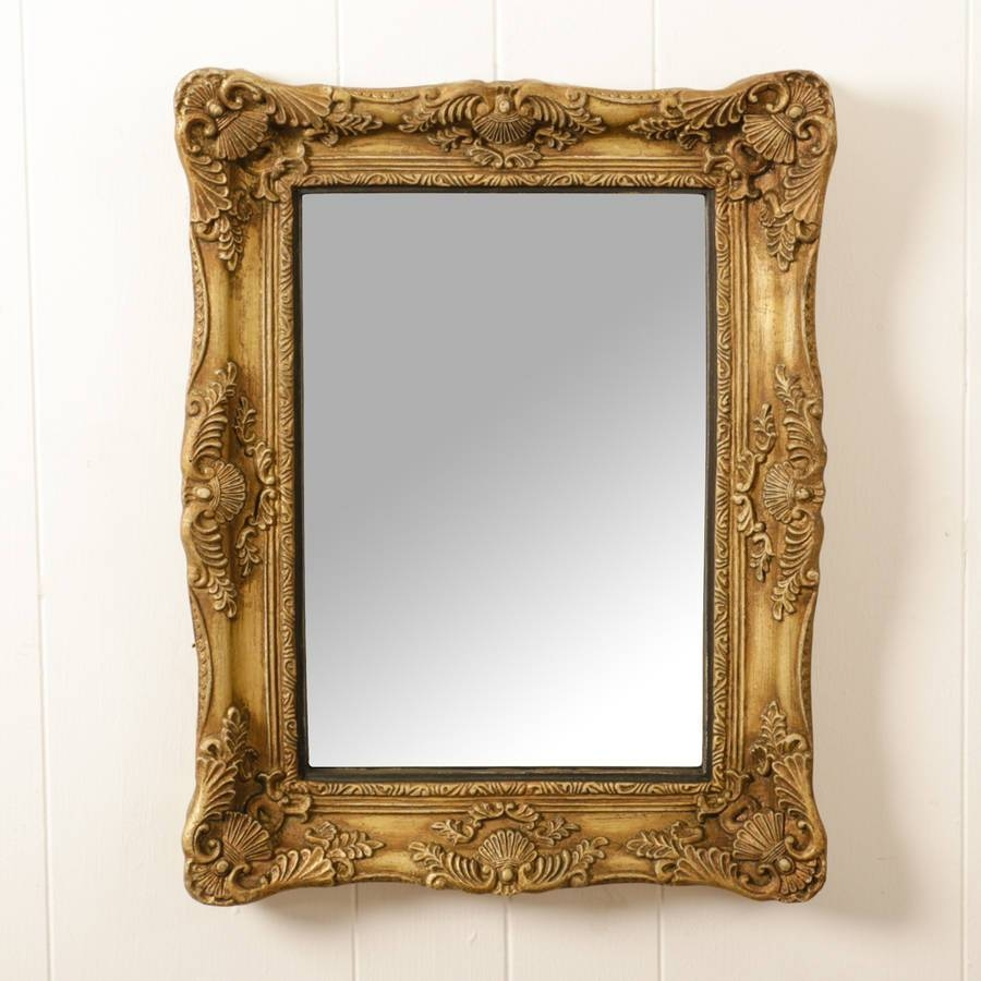 Rectangular Gold Ornate Mirrordibor | Notonthehighstreet in Gold Ornate Mirrors (Image 20 of 25)