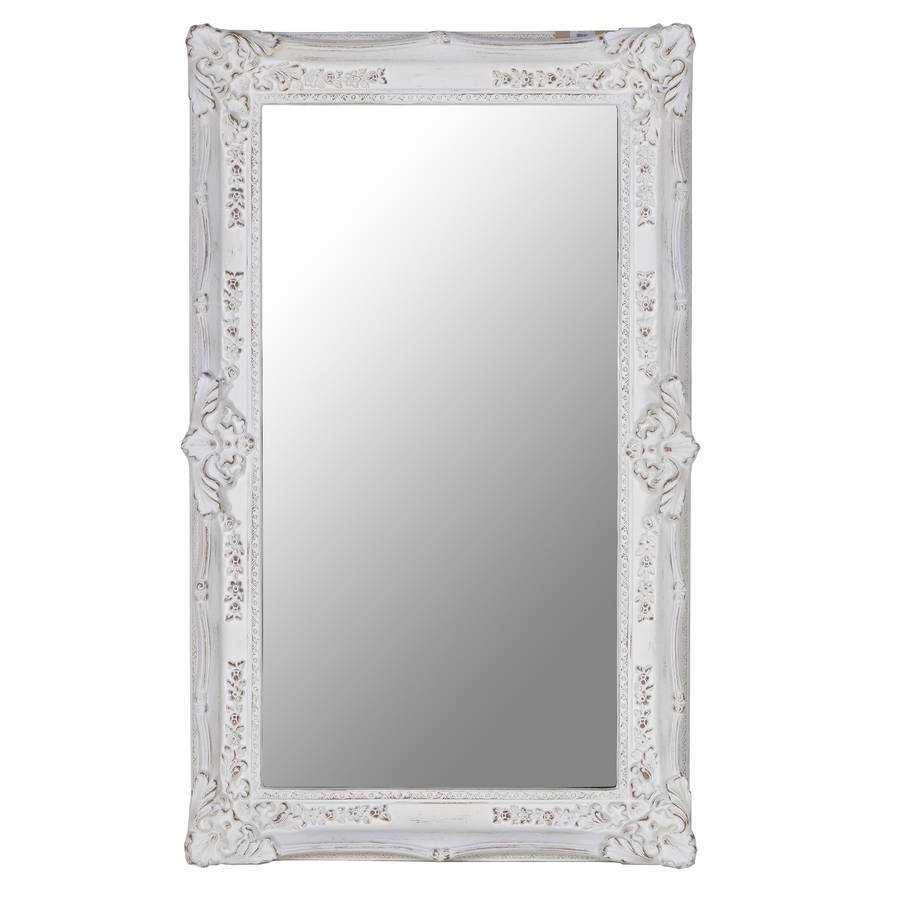 Rectangular Ornate Mirror In Whiteout There Interiors with regard to Large White Ornate Mirrors (Image 18 of 25)