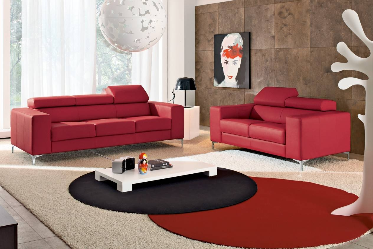 Red And Grey Living Room Decor L Shaped Beige Fabric Sectional regarding L Shaped Coffee Tables (Image 27 of 30)