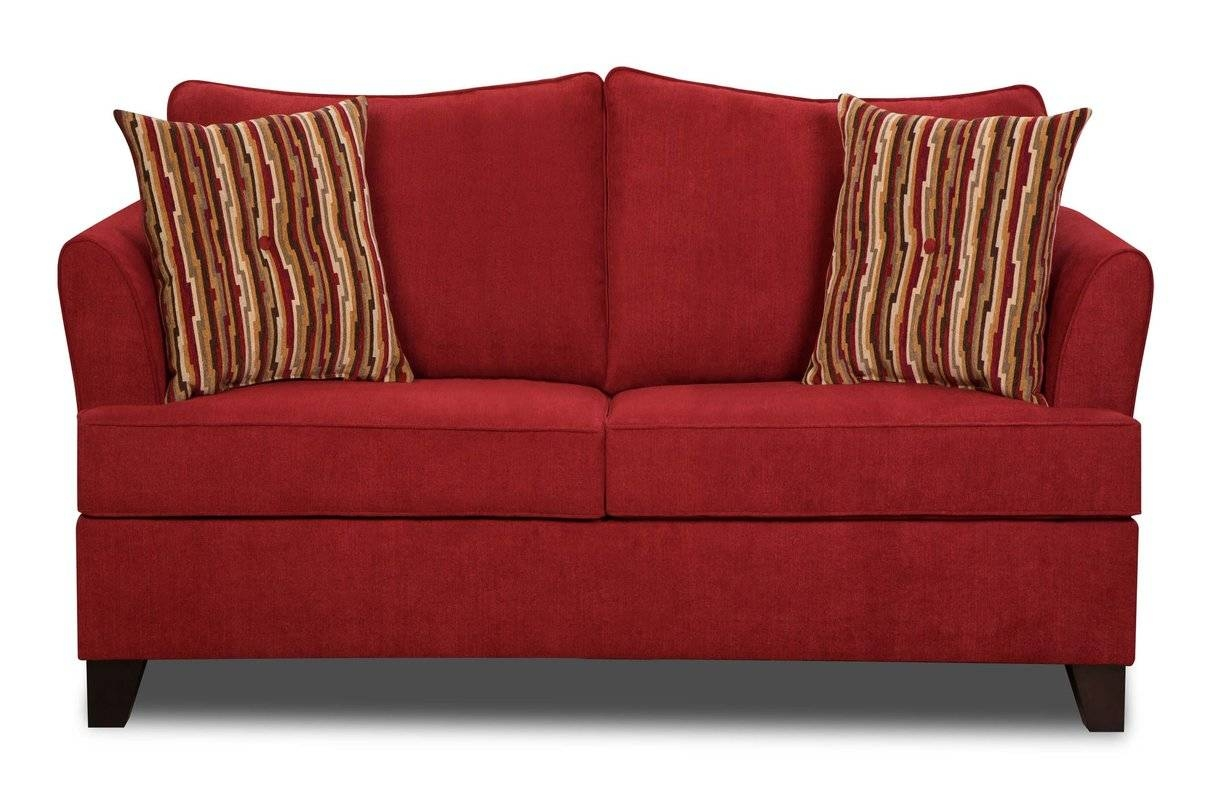 Red Barrel Studio Simmons Upholstery Antin Loveseat Sleeper Sofa within Red Sleeper Sofa (Image 15 of 30)