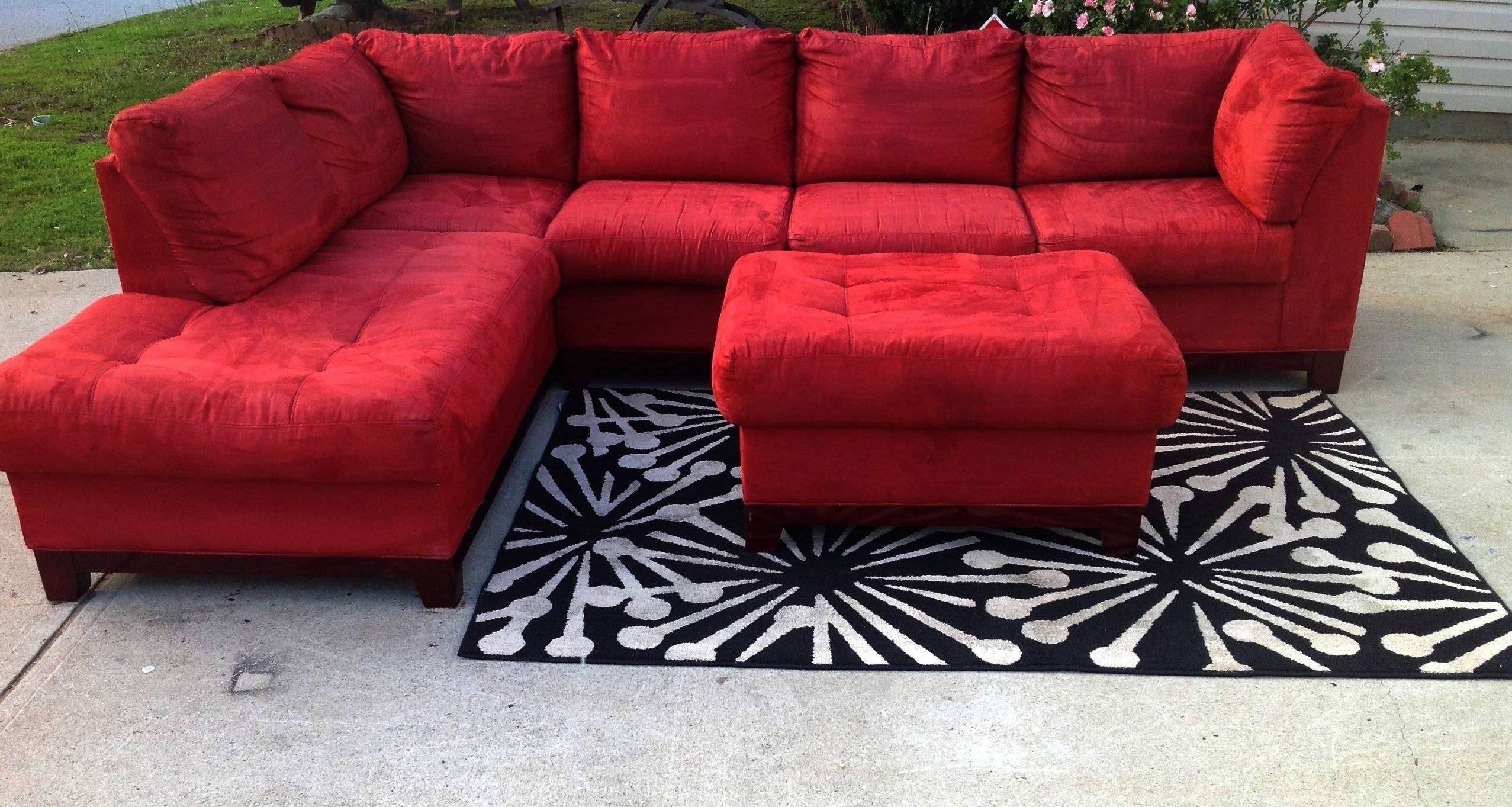 Red Cindy Crawford Stlye Sectional 475 - Youtube regarding Cindy Crawford Home Sectional Sofa (Image 28 of 30)