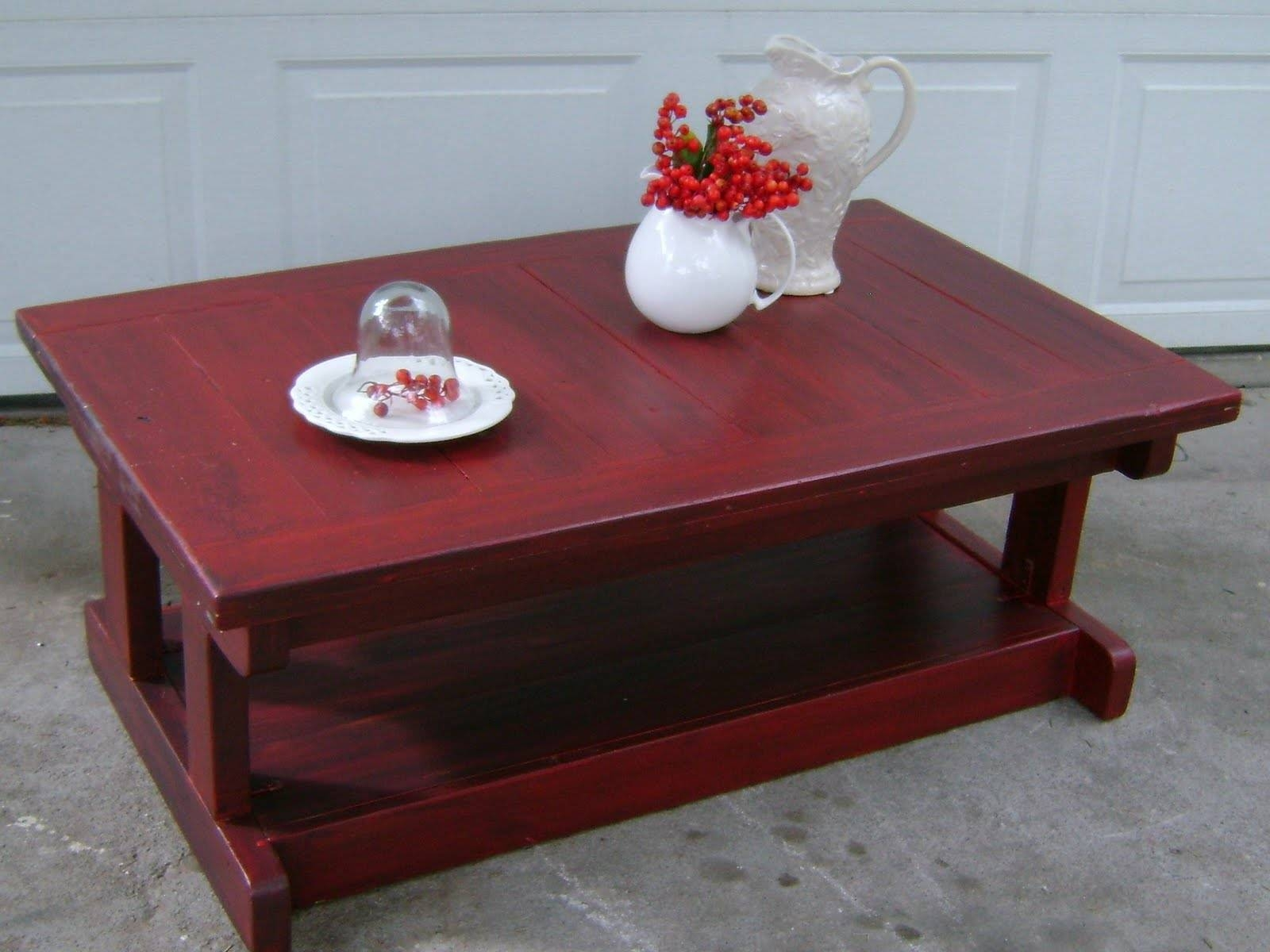 Red Coffee Tables With Glass Material And Trunk As Storage in Red Coffee Table (Image 25 of 30)