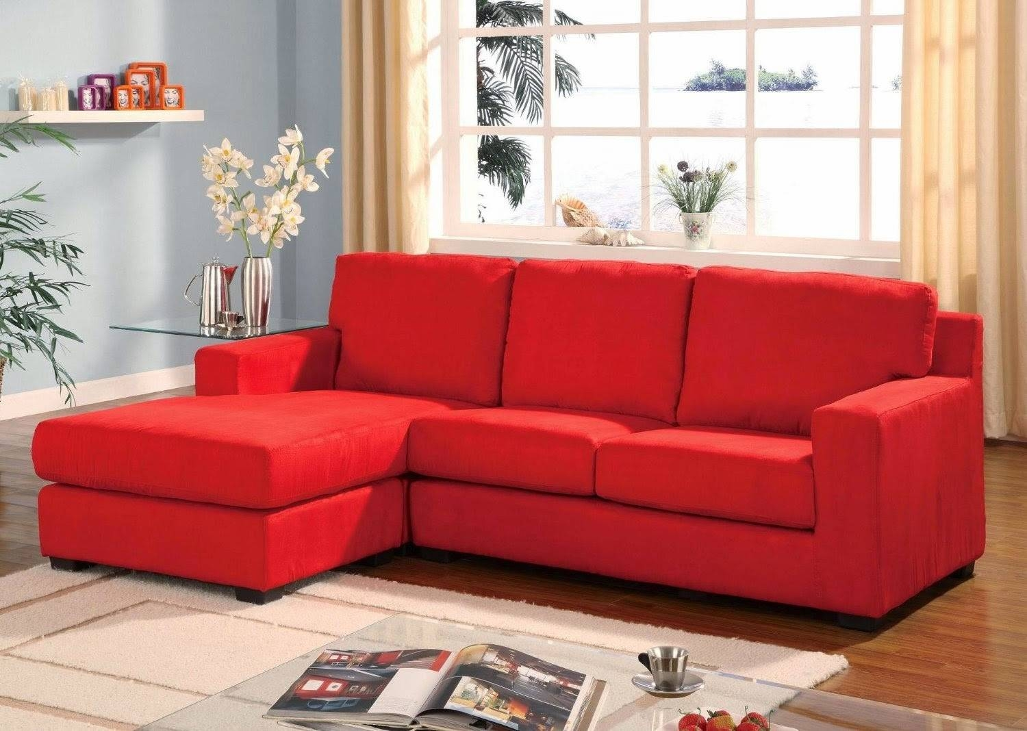 Red Couch within Red Sectional Sleeper Sofas (Image 16 of 30)