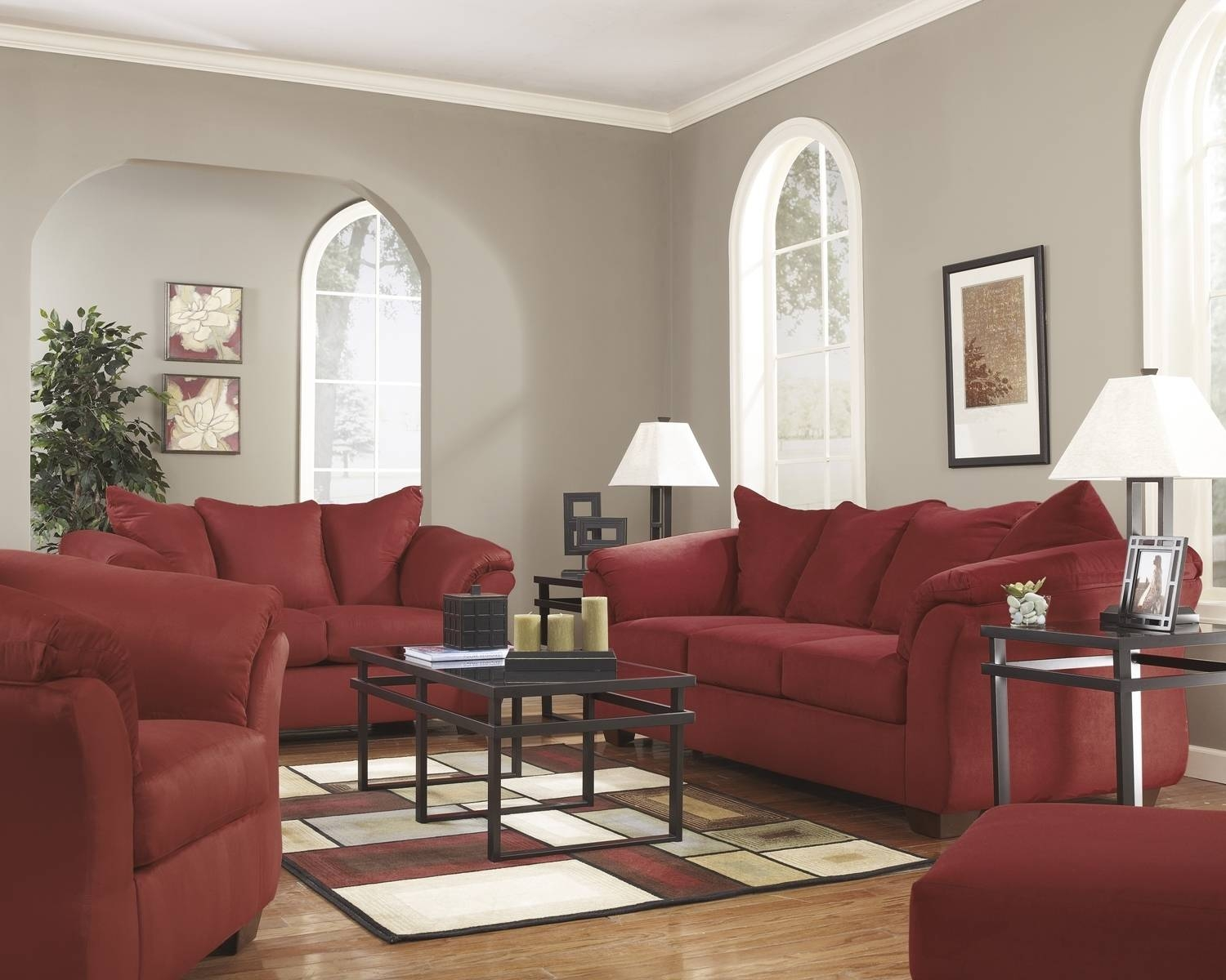Red Fabric Sofa With Full Sleeperashley Signature Design in Red Sleeper Sofa (Image 17 of 30)