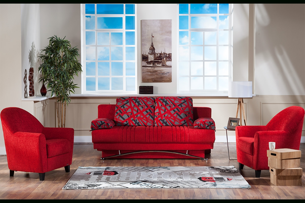 Red Futon Couch | Fantasy Contemporary Sofa Sleeper | The Futon Shop throughout Red Sleeper Sofa (Image 18 of 30)