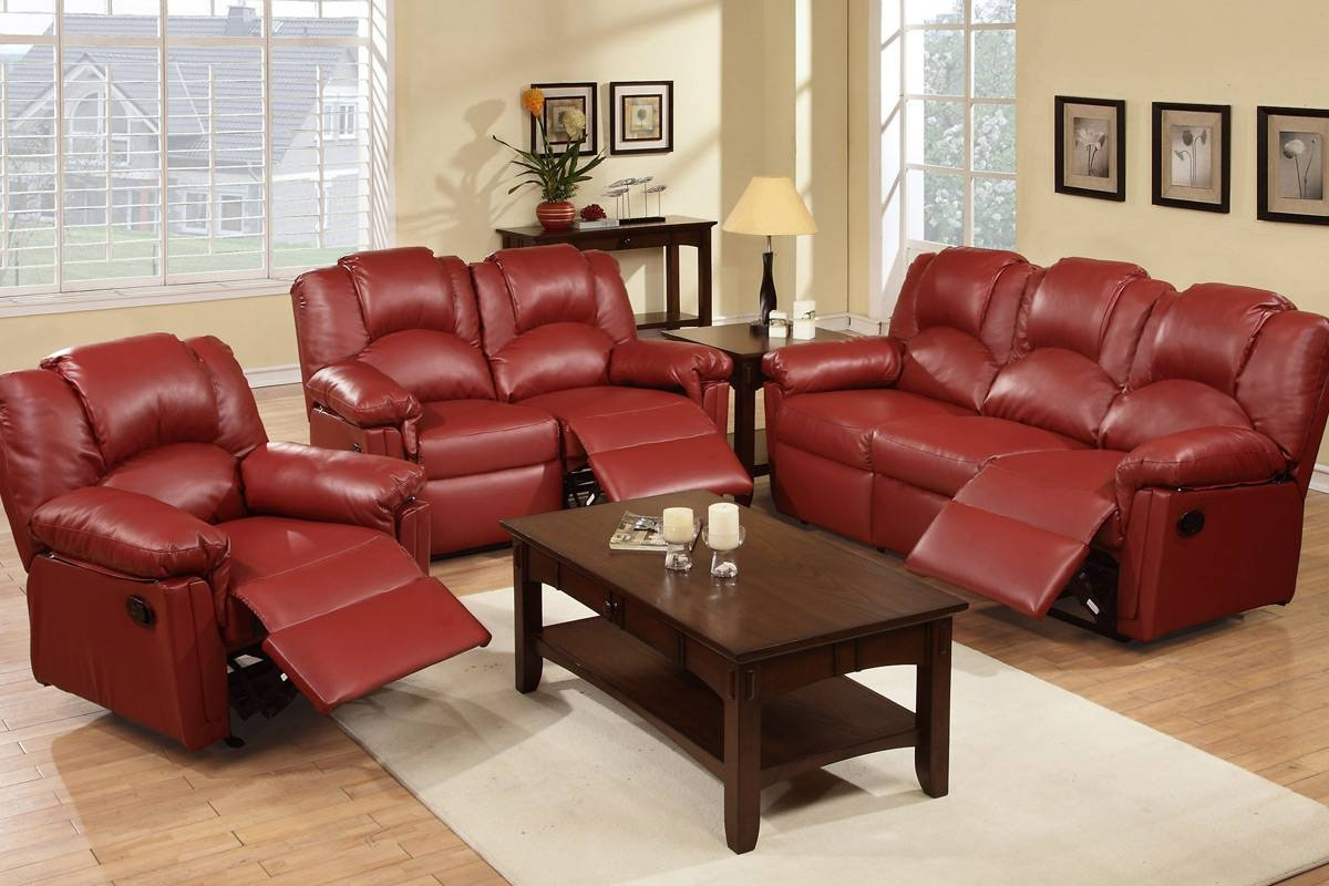 Red Leather Chair - Steal-A-Sofa Furniture Outlet Los Angeles Ca pertaining to Sofa Chair Recliner (Image 25 of 30)