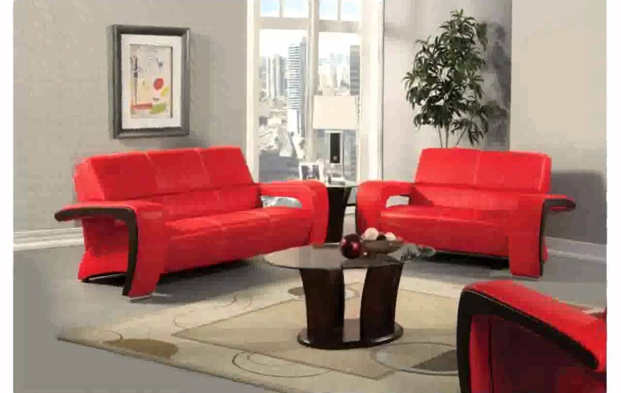 Red Leather Couch Decorating Ideas - Youtube pertaining to Red Sofa Chairs (Image 15 of 30)