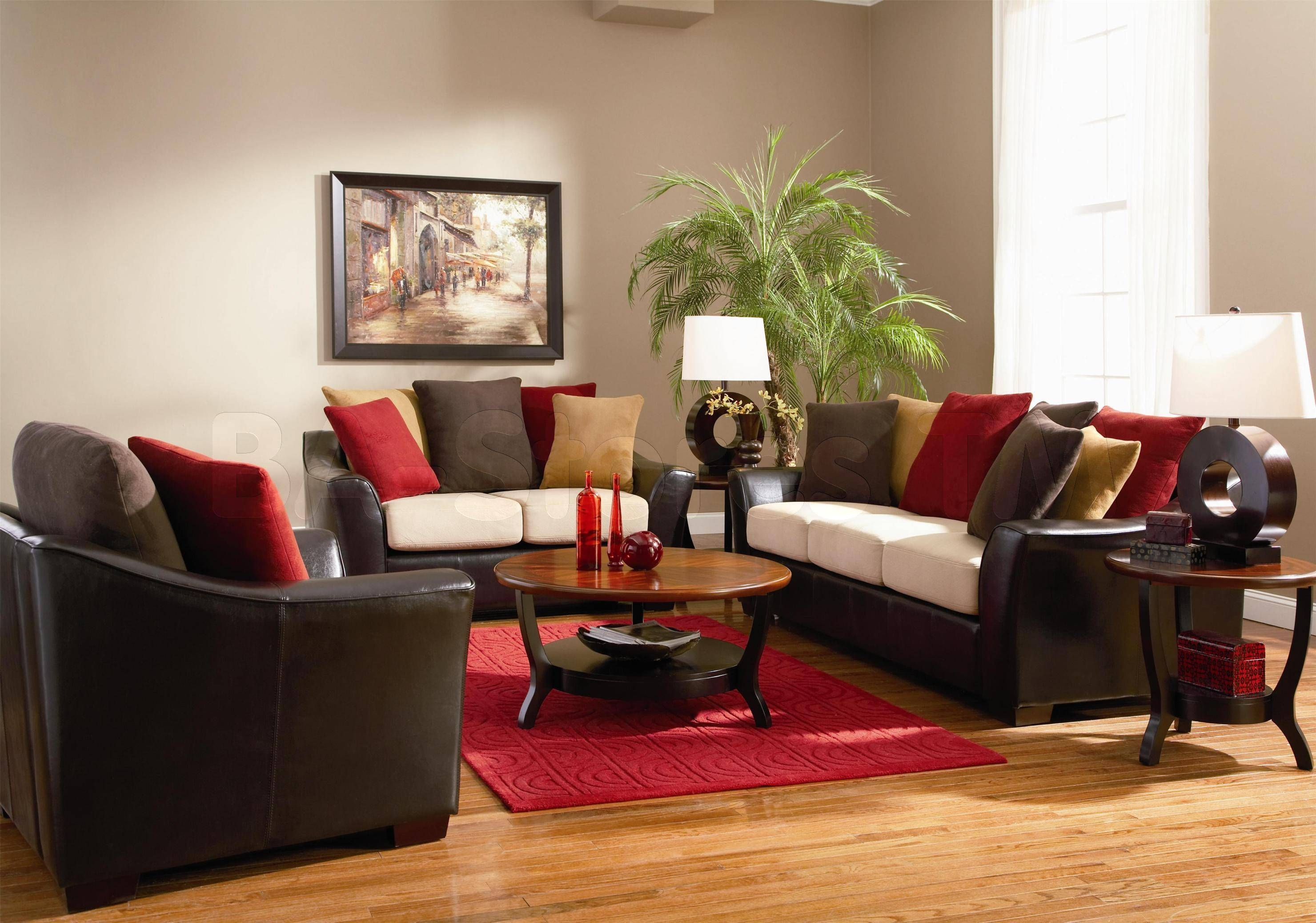 Red Leather Living Room Furniture Living Room Design And Living pertaining to Red Sofas And Chairs (Image 12 of 30)