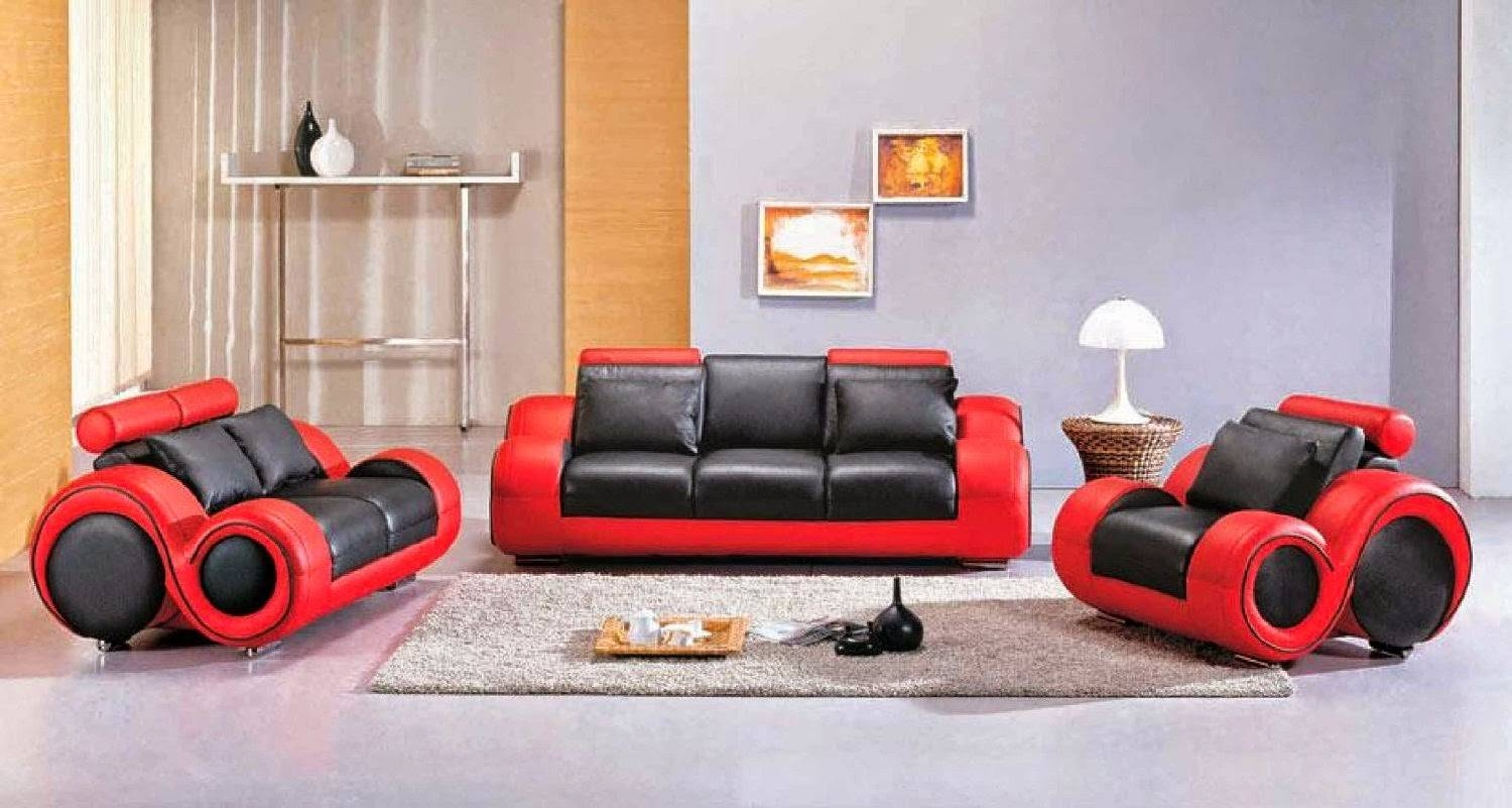 Red Leather Sofa: Red And Black Leather Sofa regarding Sofa Red and Black (Image 21 of 25)