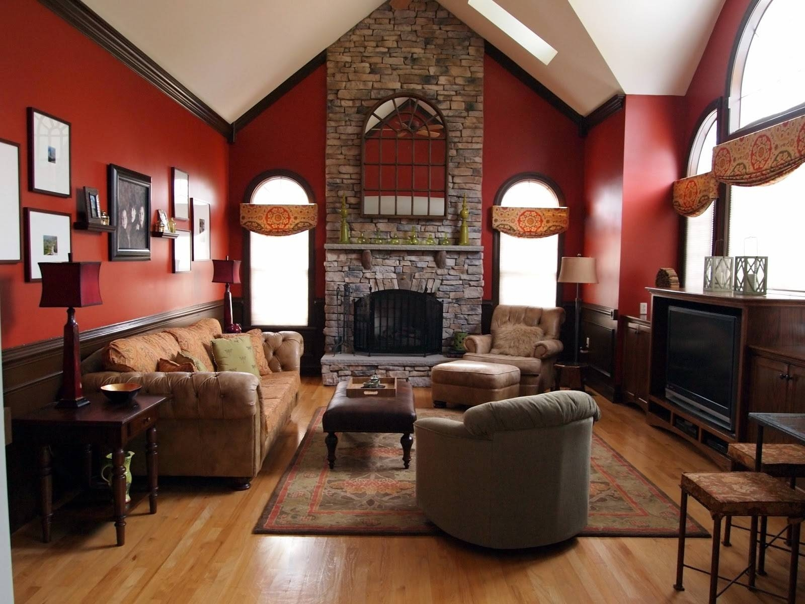 Showing photos of red round coffee tables view 23 of 30 photos red living room ideas pictures slate decors sloping ceiling throughout red round coffee tables photo geotapseo Gallery