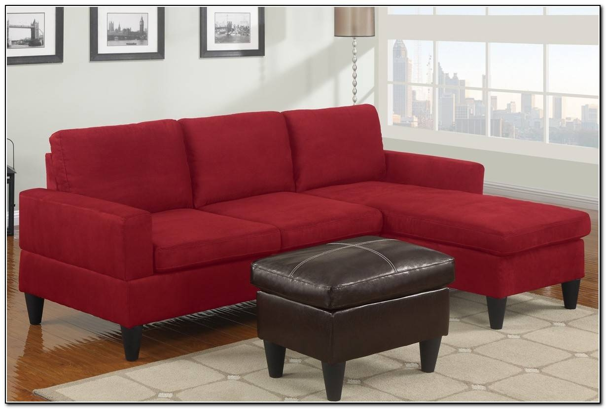 Red Microfiber Sectional Sofa - Sofa : Home Design Ideas within Red Microfiber Sectional Sofas (Image 19 of 30)
