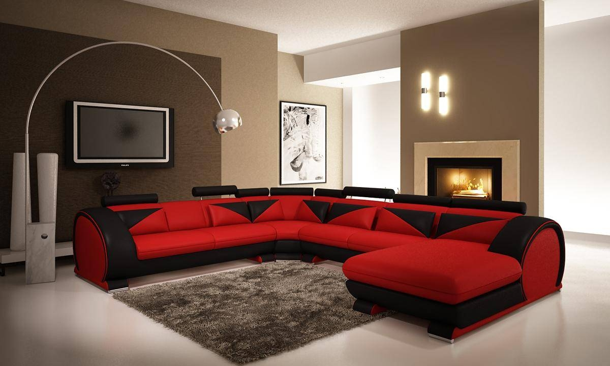Red Microfiber Sectionals Highlight Your Living Room | Homesfeed with Red Microfiber Sectional Sofas (Image 20 of 30)