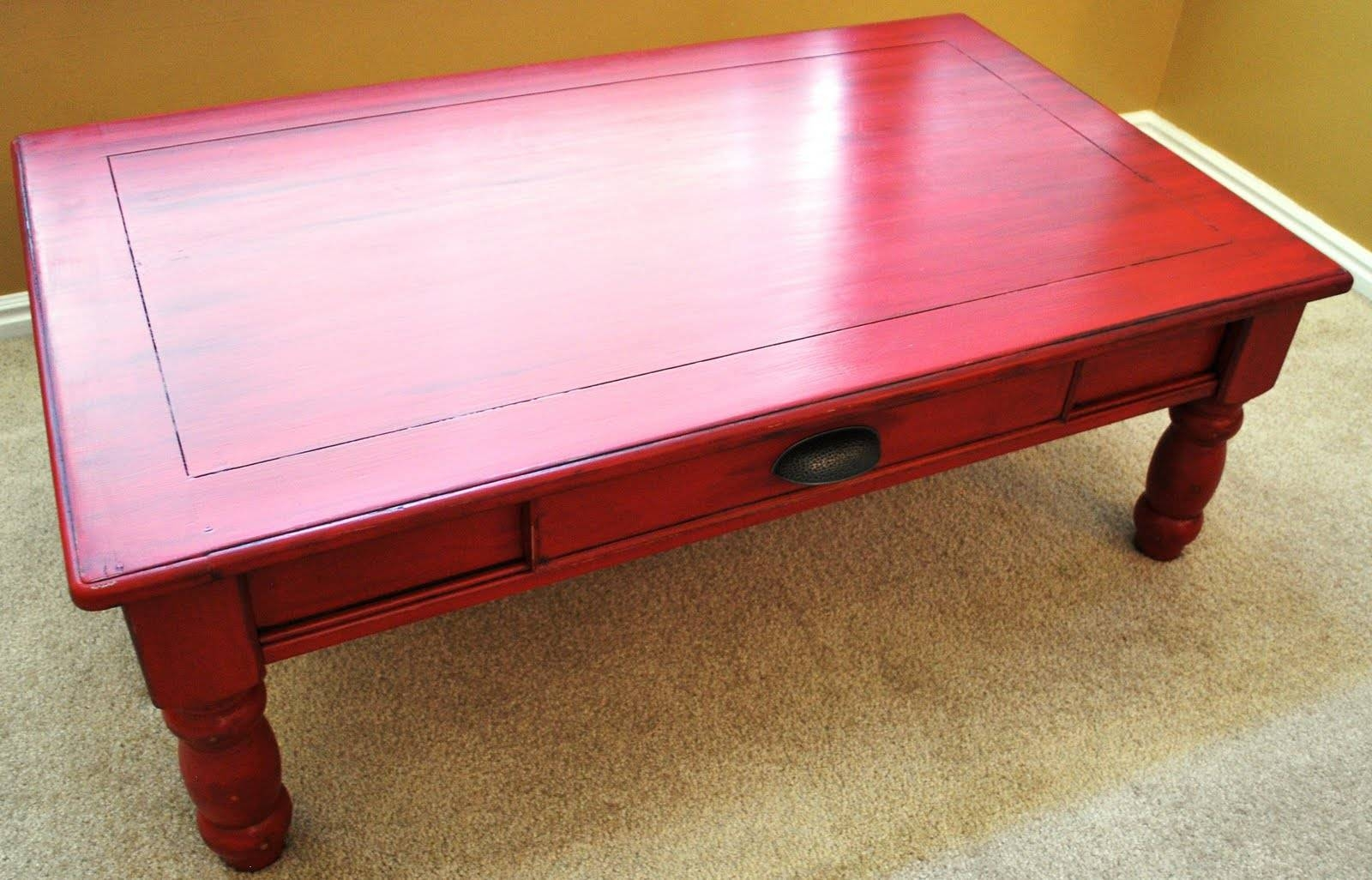Red Painted Coffee Table Design Ideas Tables For Sal / Thippo throughout Round Red Coffee Tables (Image 25 of 30)