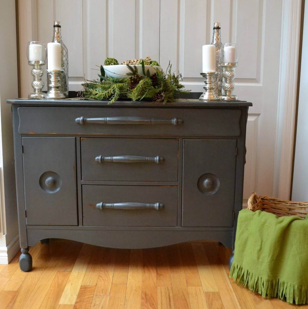 Refinished Grey Sideboard – At Number 10 with Dark Grey Sideboards (Image 13 of 30)