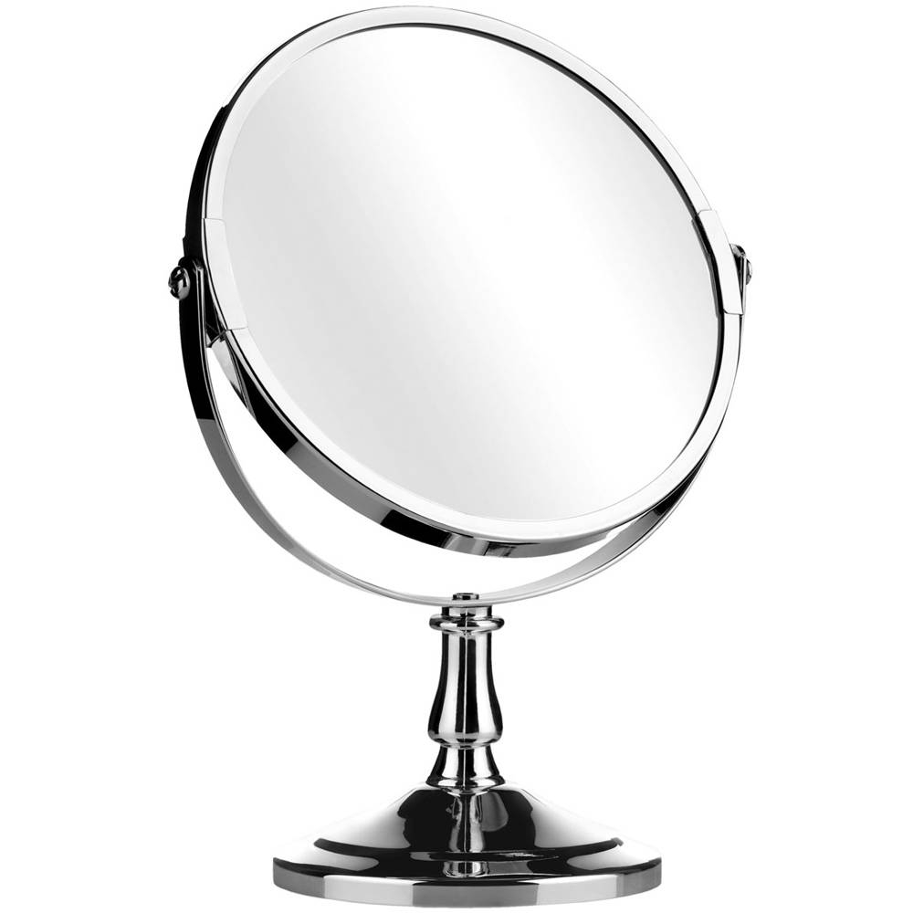 Reflect - Round Free Standing Silver Chrome Bathroom / Make Up for Small Free Standing Mirrors (Image 22 of 25)