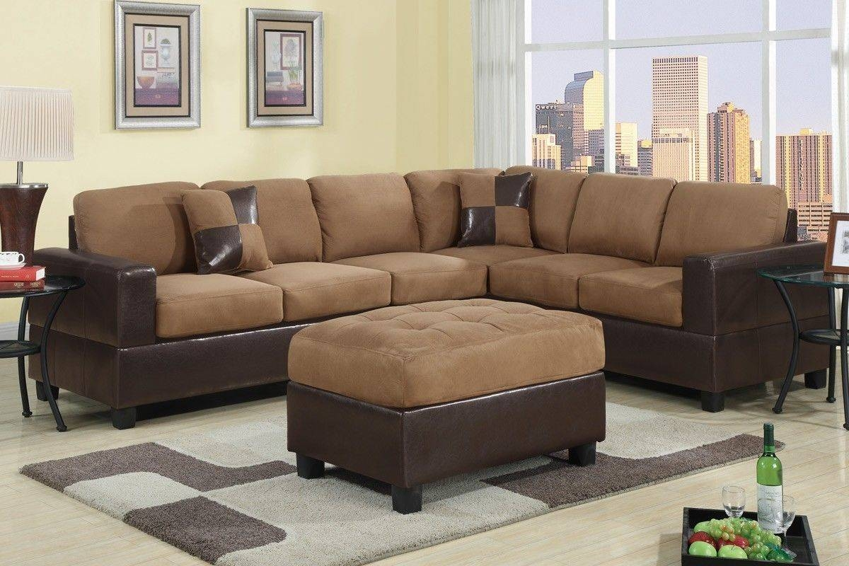 Remarkable Cheap Sofas And Sectionals 13 About Remodel Abbyson intended for Abbyson Living Charlotte Dark Brown Sectional Sofa and Ottoman (Image 20 of 30)